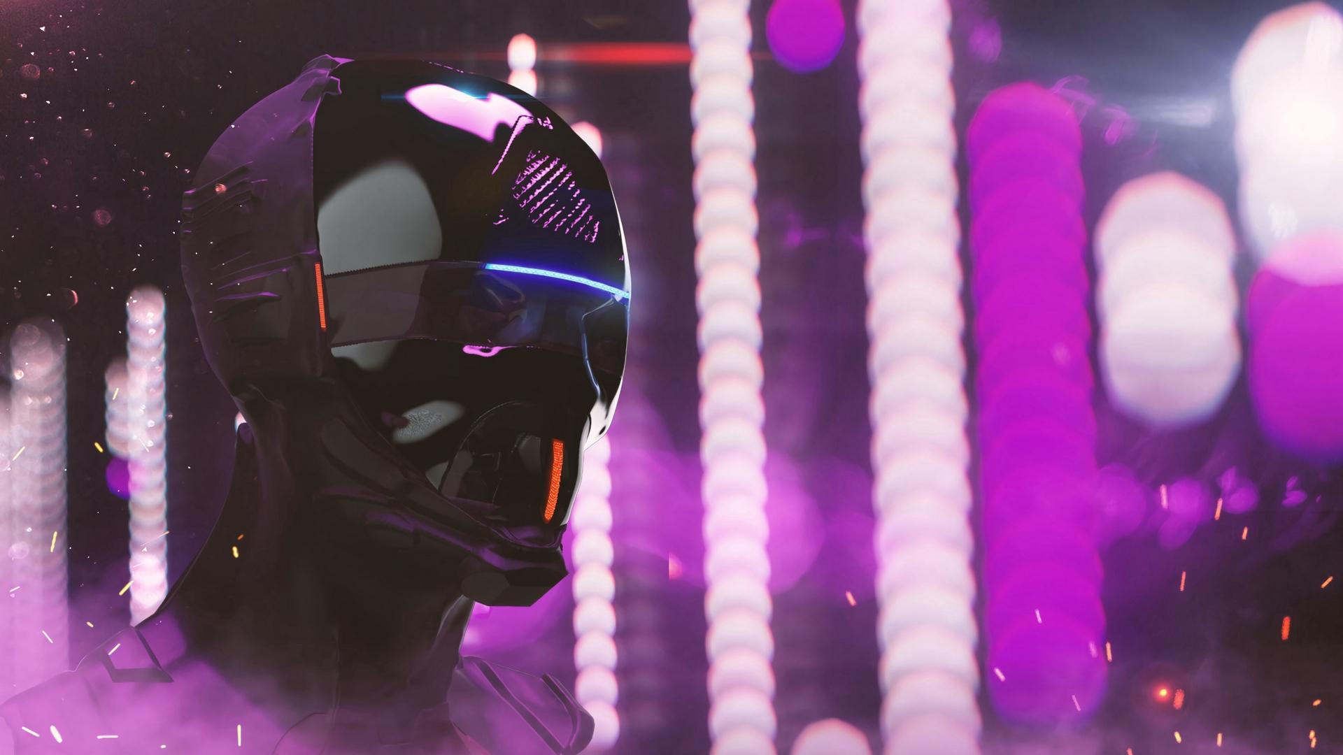 Cyberpunk Mask full hd 1080p wallpaper