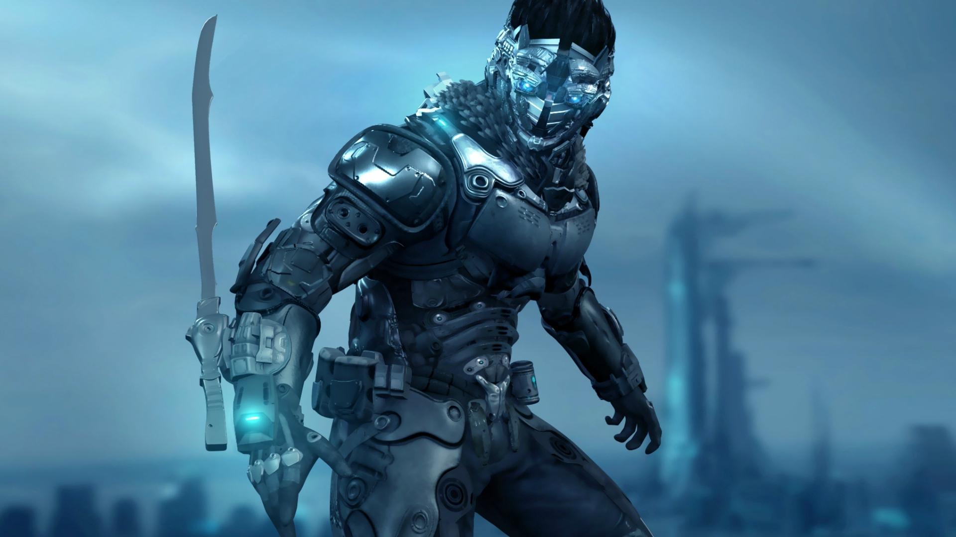 Cyberpunk Mask free download wallpaper