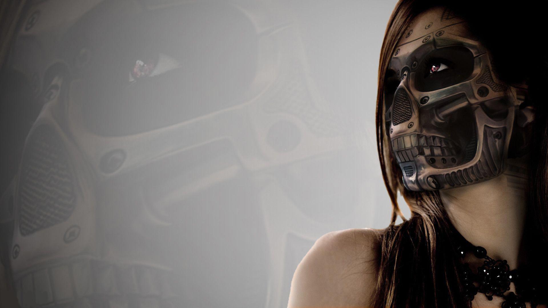 Cyberpunk Mask wallpaper image hd