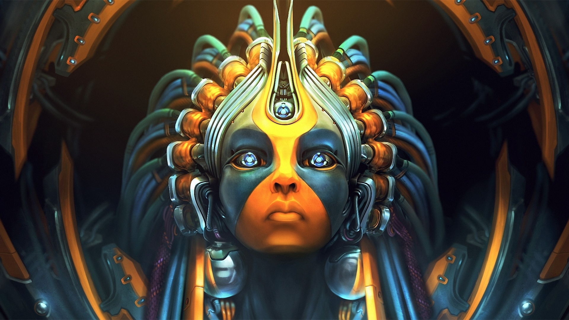 Cyberpunk Mask screen wallpaper