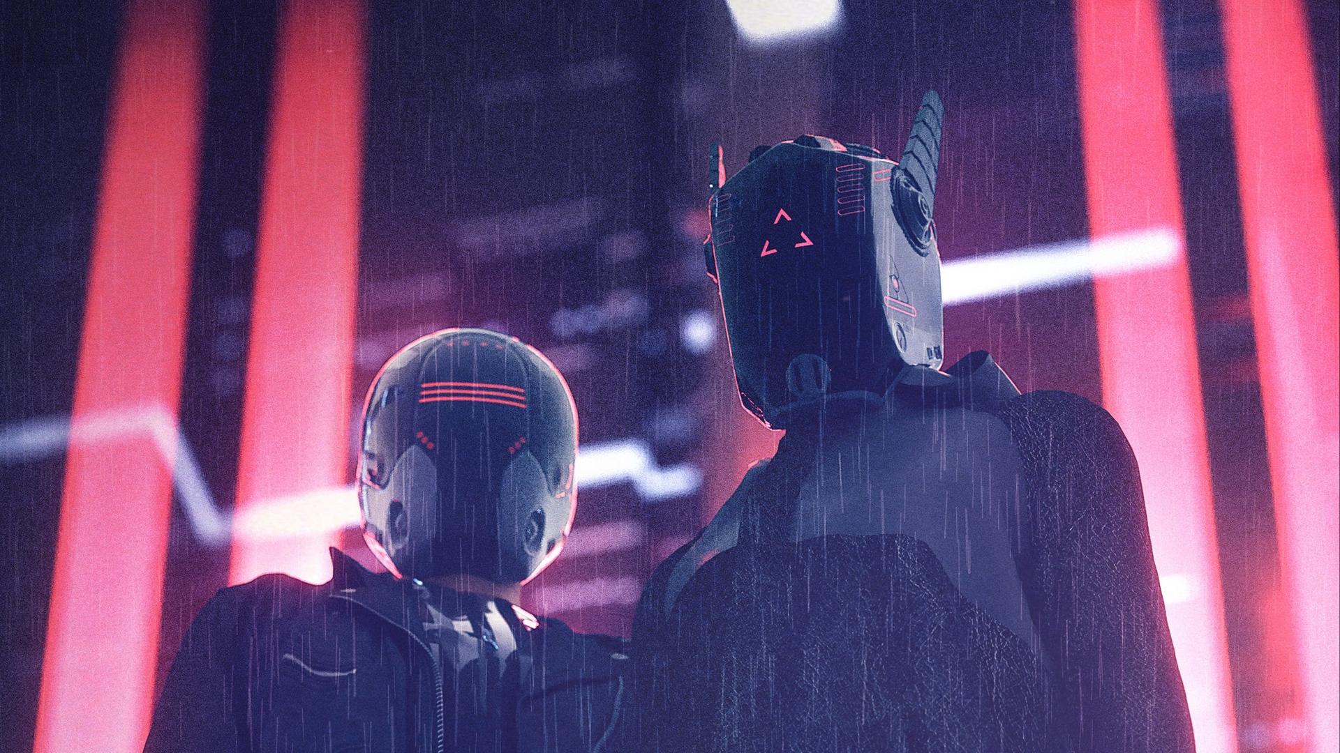 Cyberpunk Mask HD Wallpaper