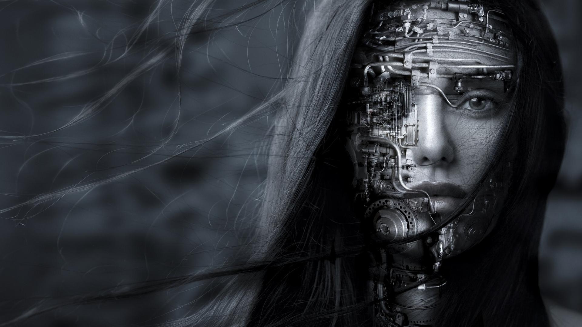 Cyberpunk Mask Background