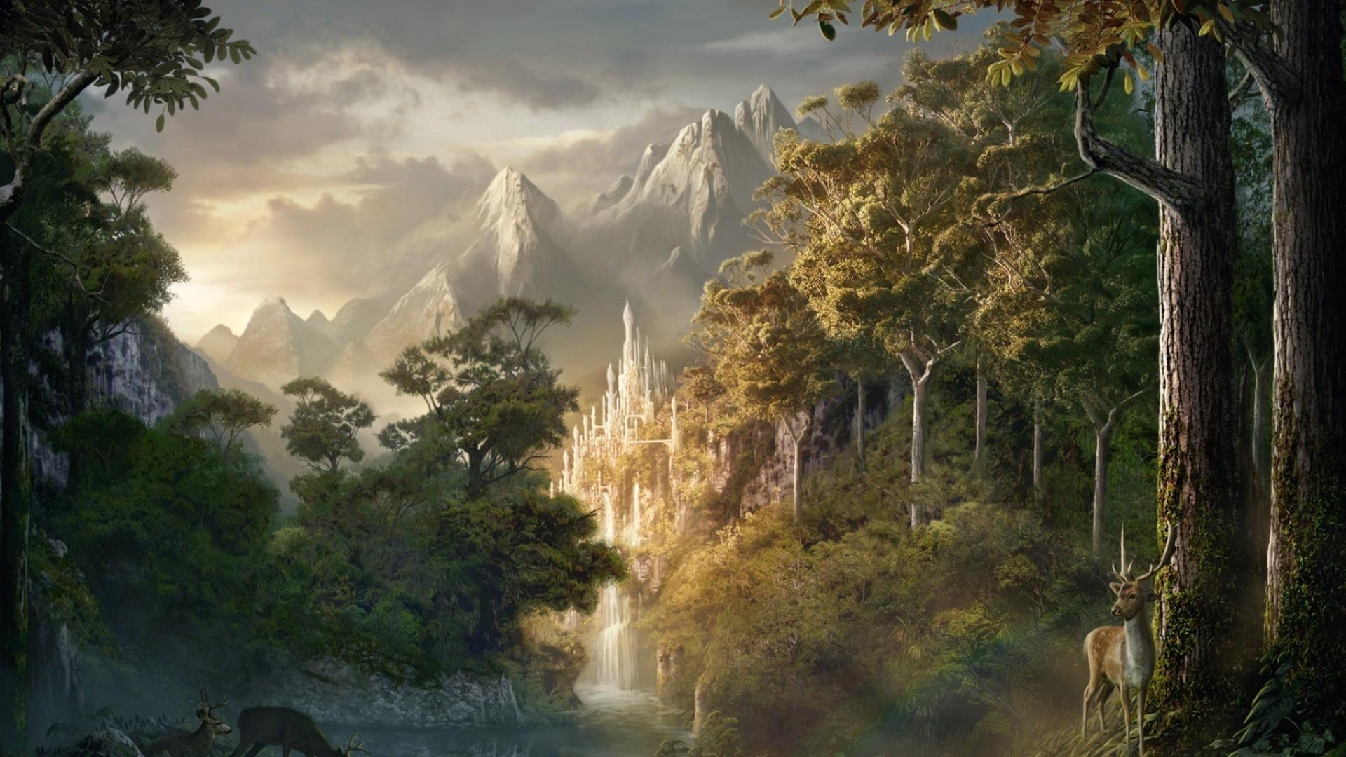 Fantasy Landsсape wallpaper photo hd