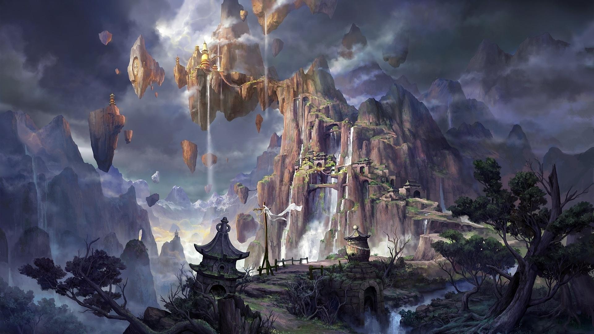 Fantasy Landsсape wallpaper photo