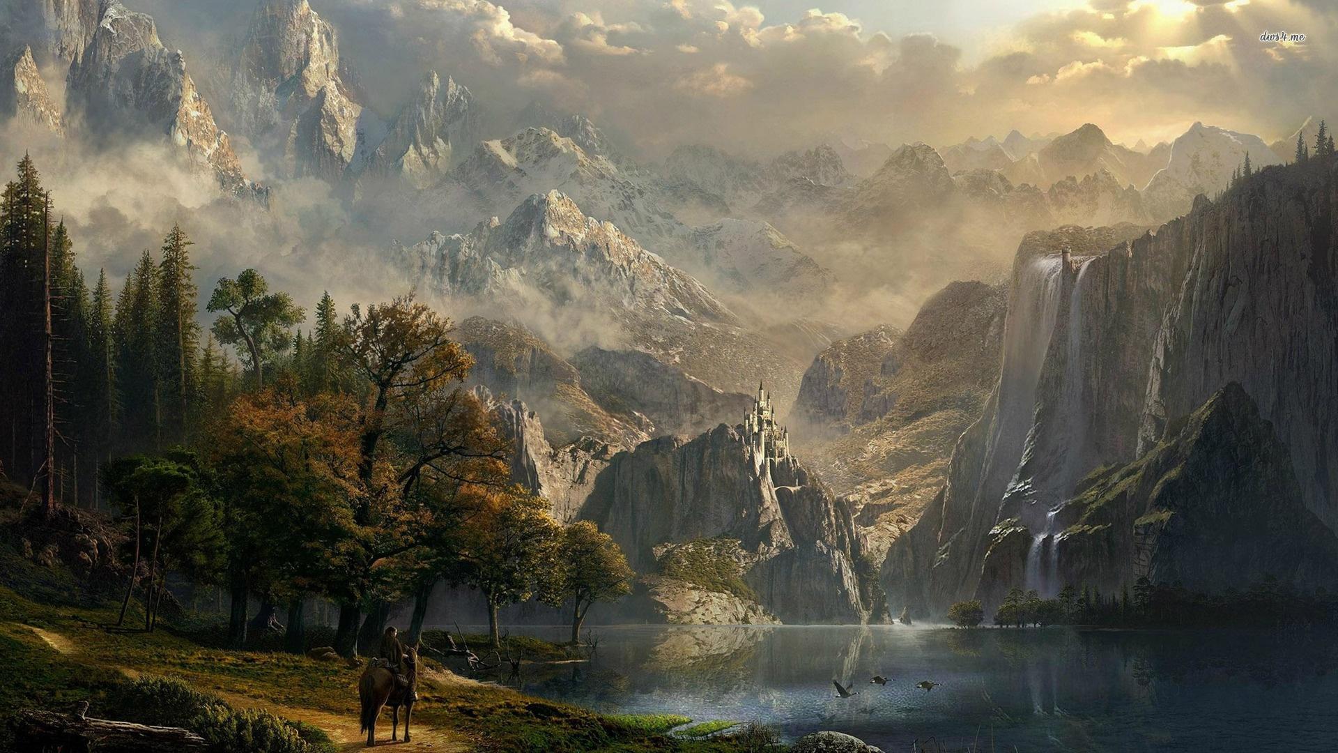 Fantasy Landsсape full hd 1080p wallpaper