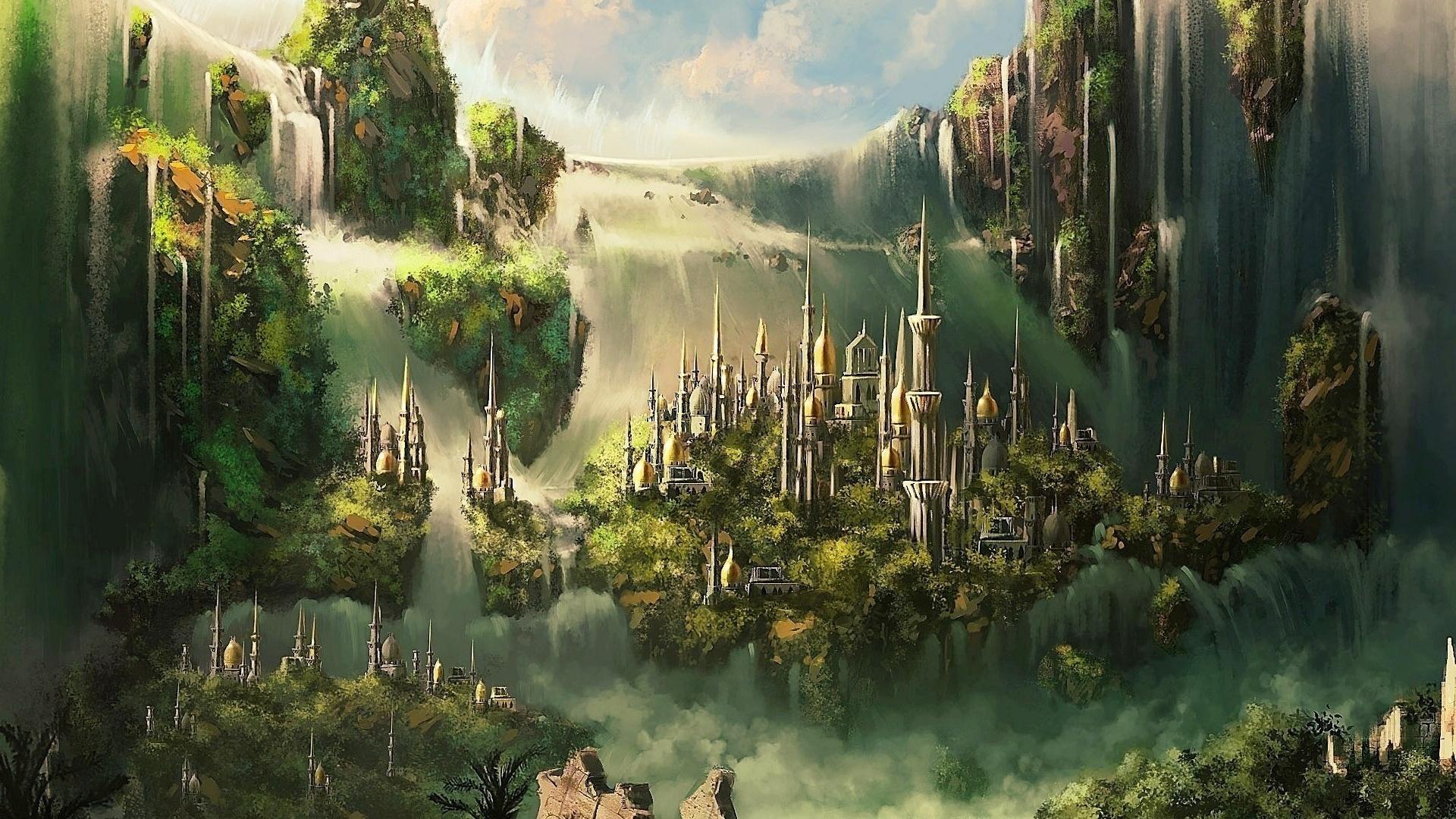 Fantasy Landsсape background wallpaper