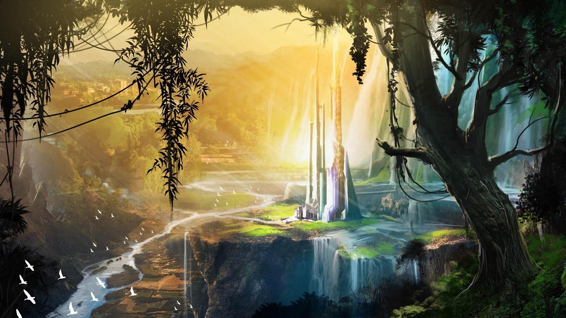 Fantasy Landsсape HD Wallpaper