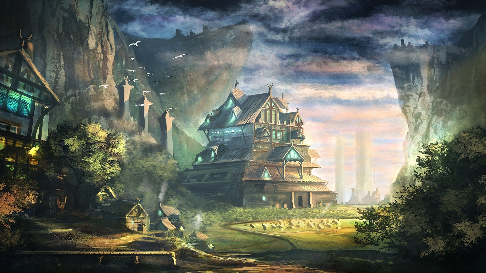 Fantasy Landsсape HD Desktop Wallpaper