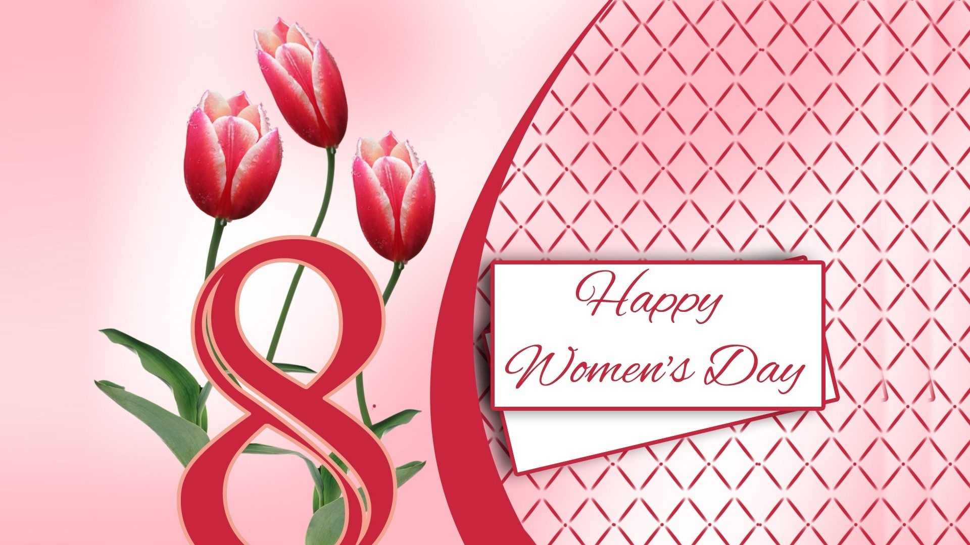 Happy Women's Day background image
