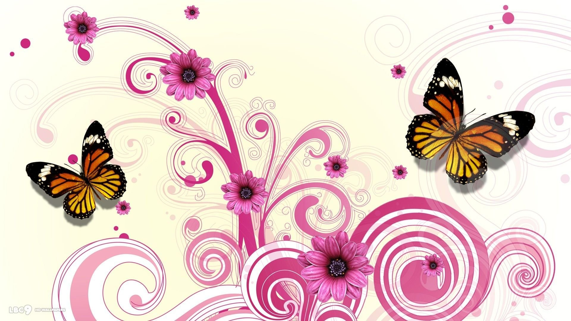 Women's Day Vector Flowers background