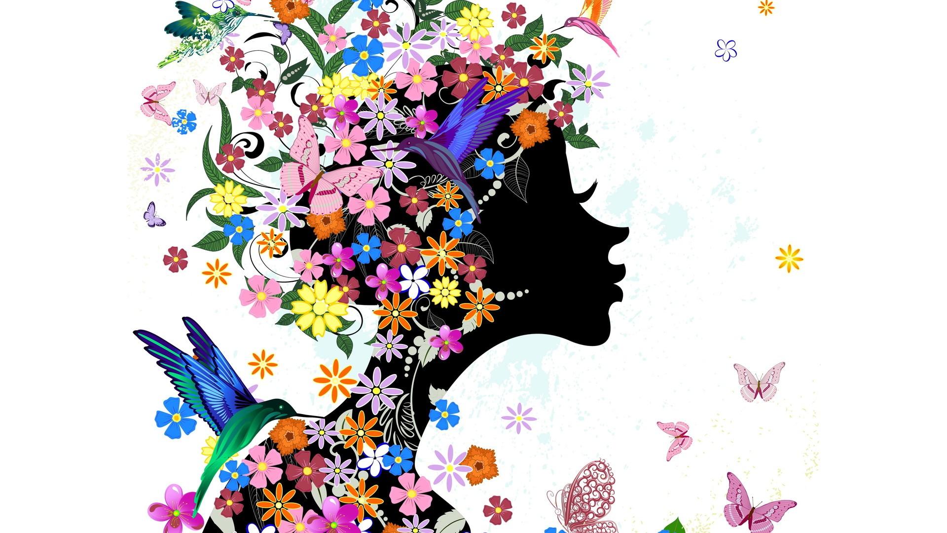Women's Day Vector Flowers hd wallpaper