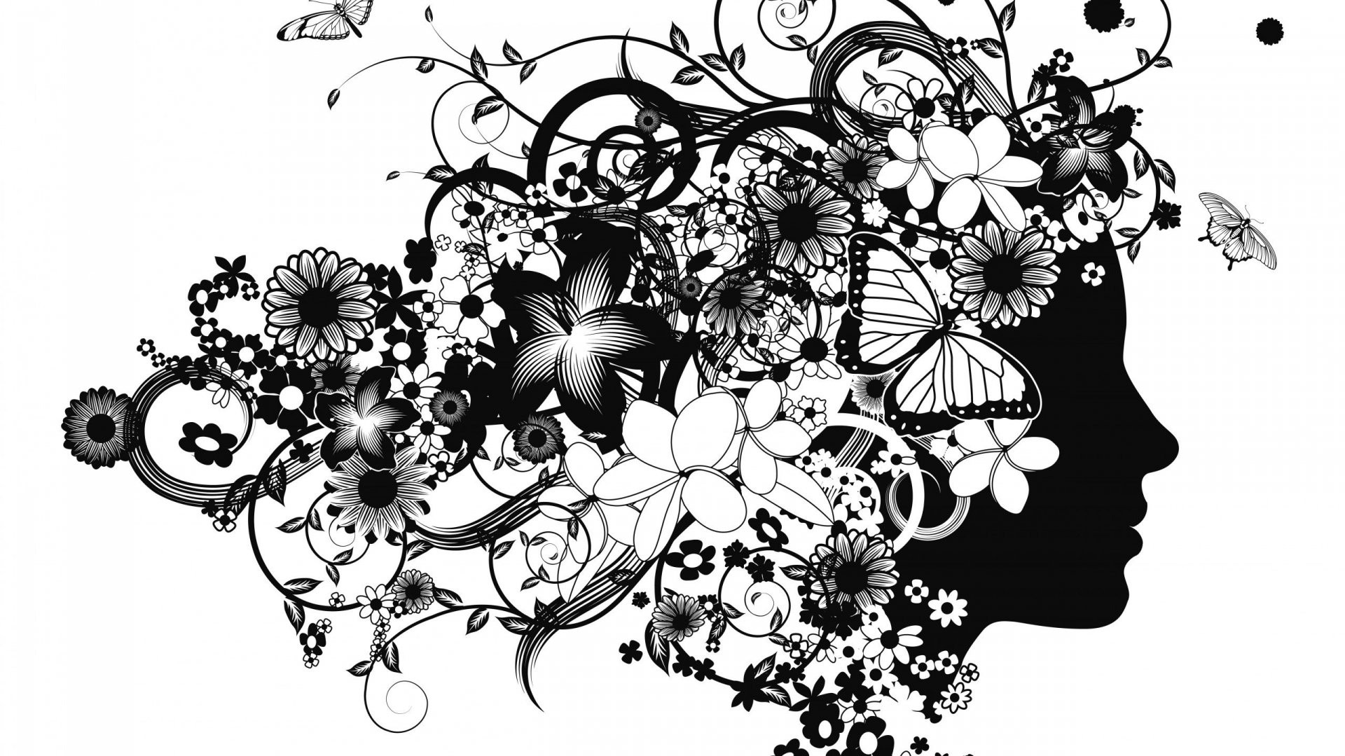 Women's Day Vector Flowers picture image