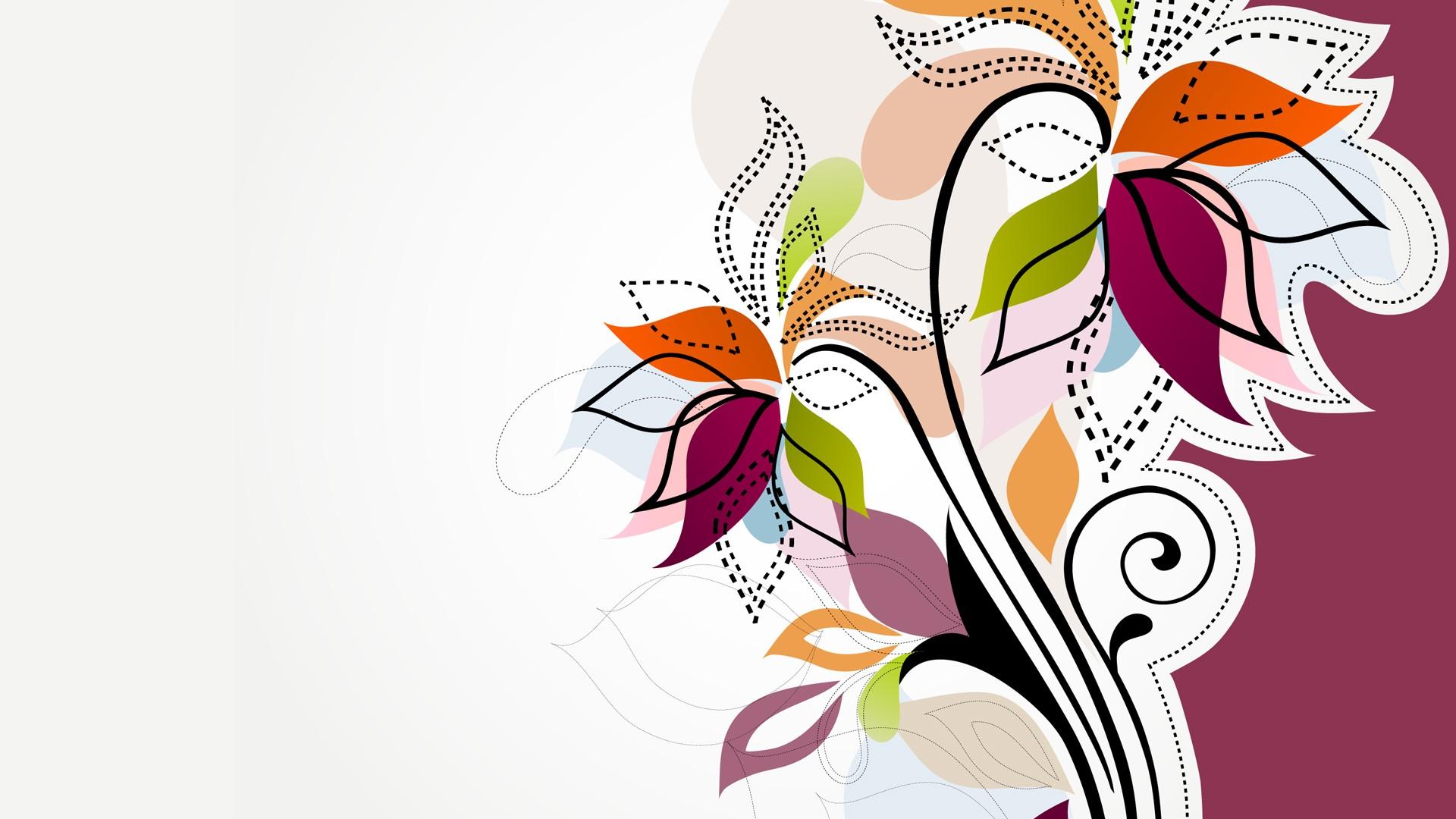 Women's Day Vector Flowers free download wallpaper
