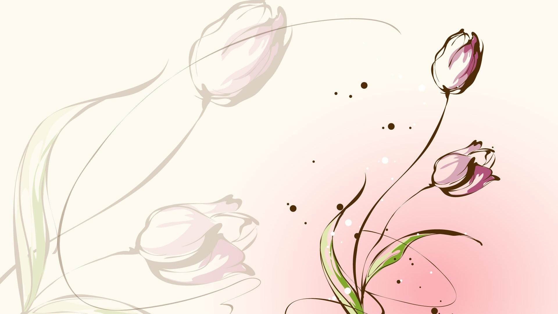 Women's Day Vector Flowers wallpaper image
