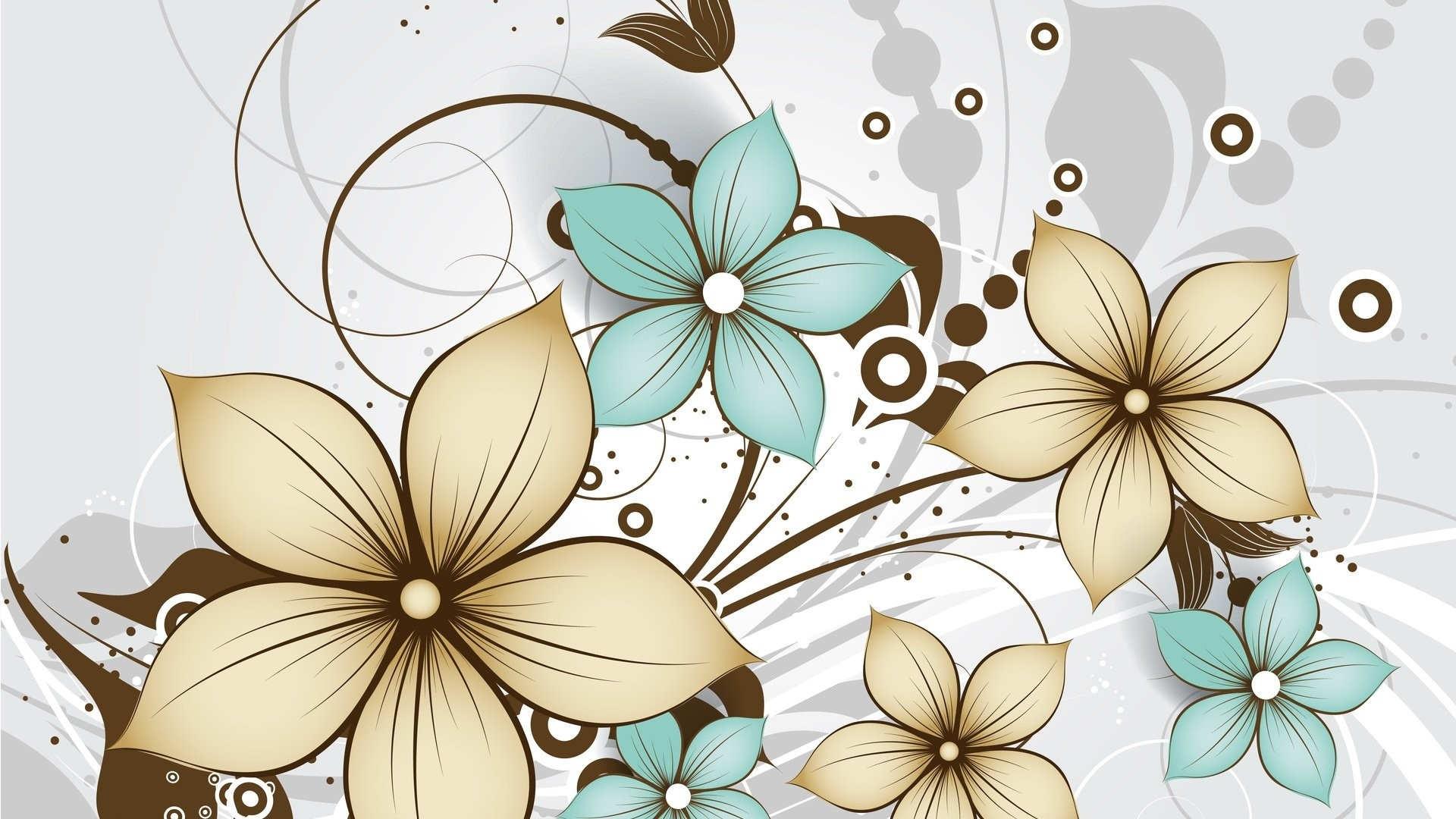 Women's Day Vector Flowers background wallpaper