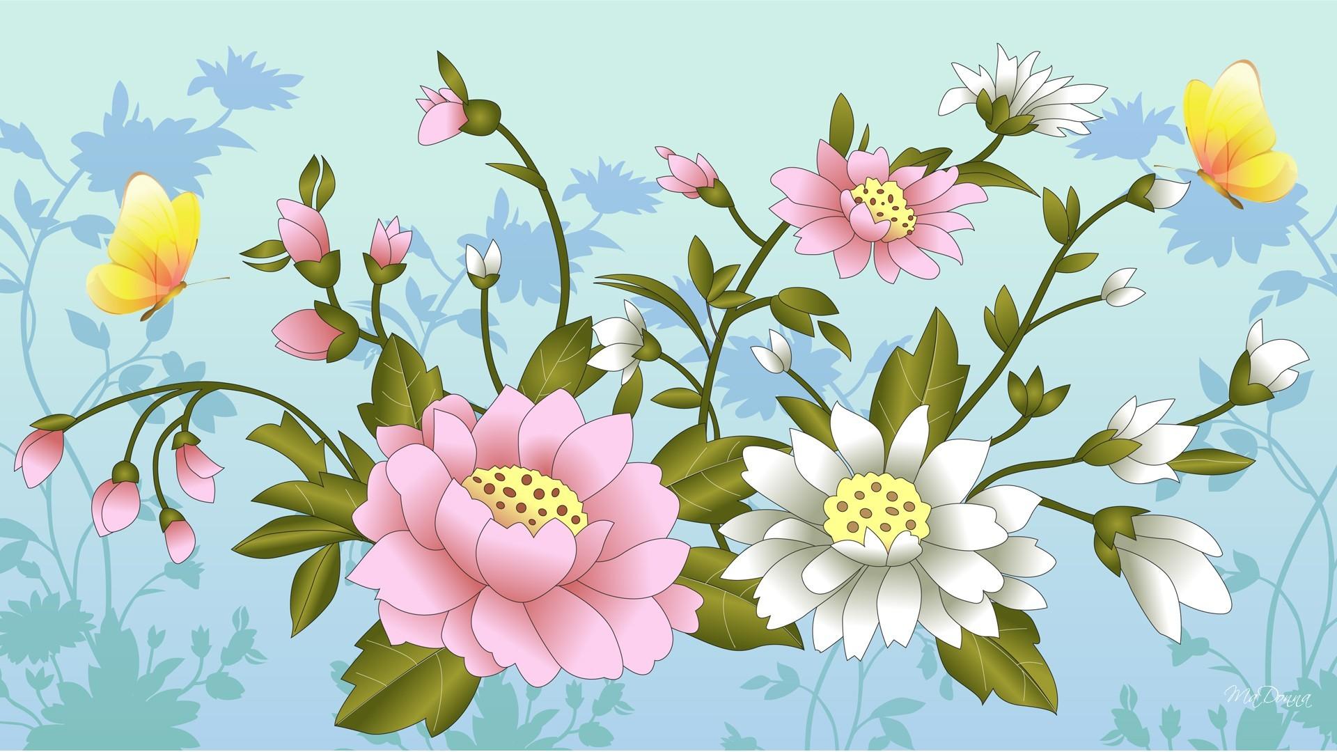 Women's Day Vector Flowers wallpaper