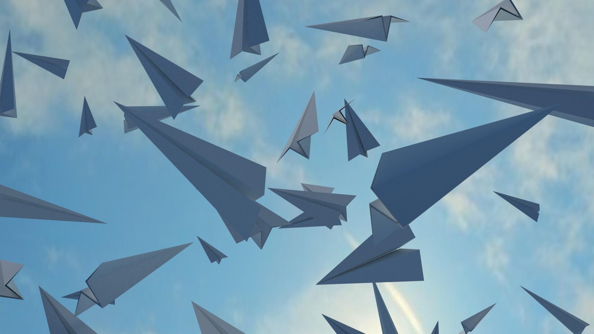 Paper Airplane wallpaper hd
