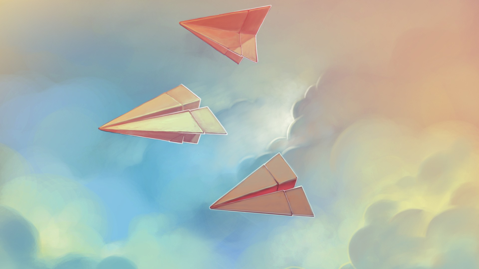 Paper Airplane nice wallpaper