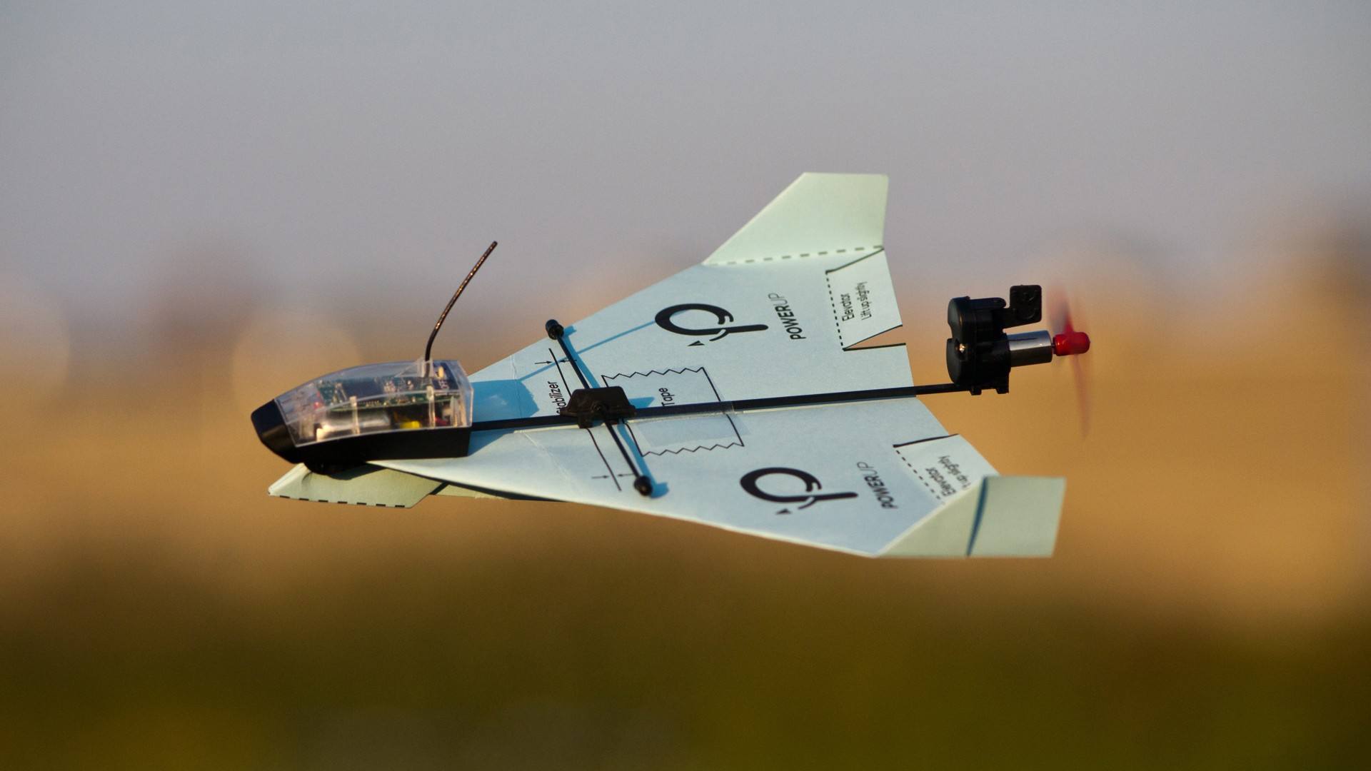 Paper Airplane desktop background hd