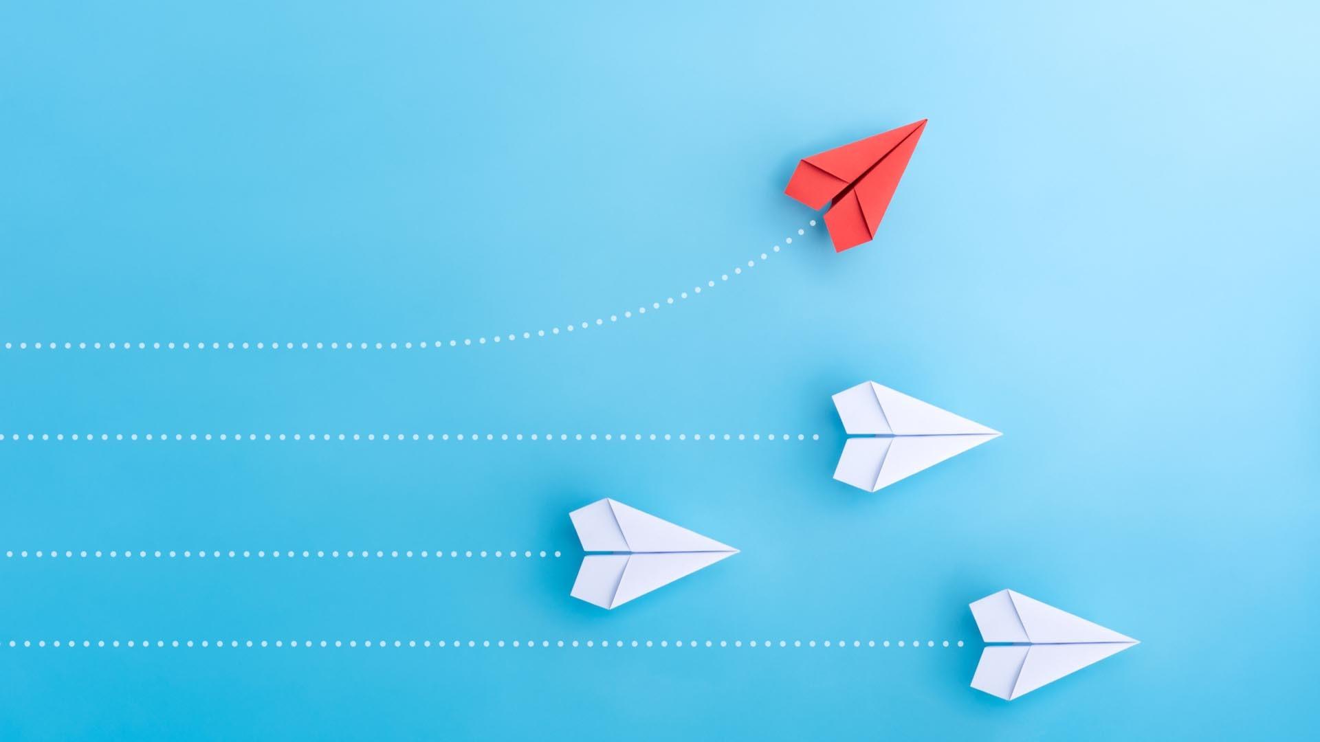 Paper Airplane desktop wallpaper