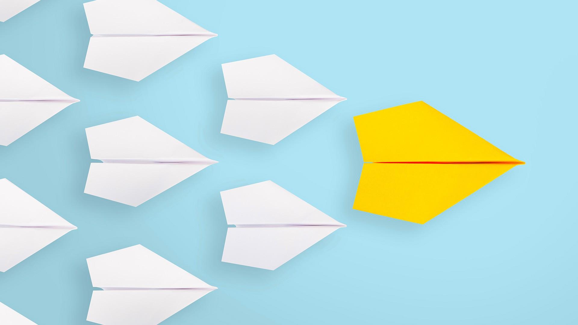Paper Airplane free desktop background
