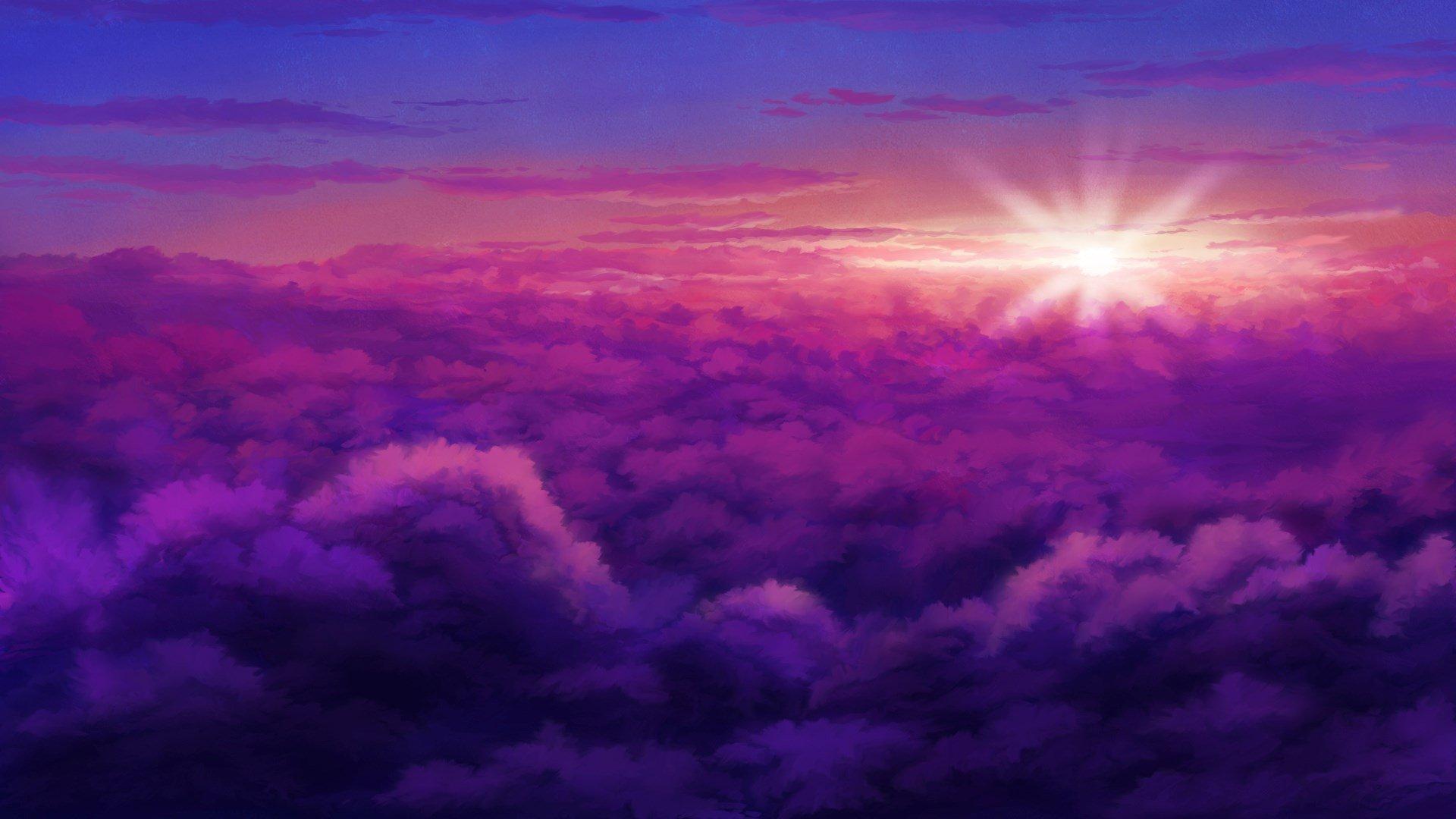Pink Sky Free Wallpaper