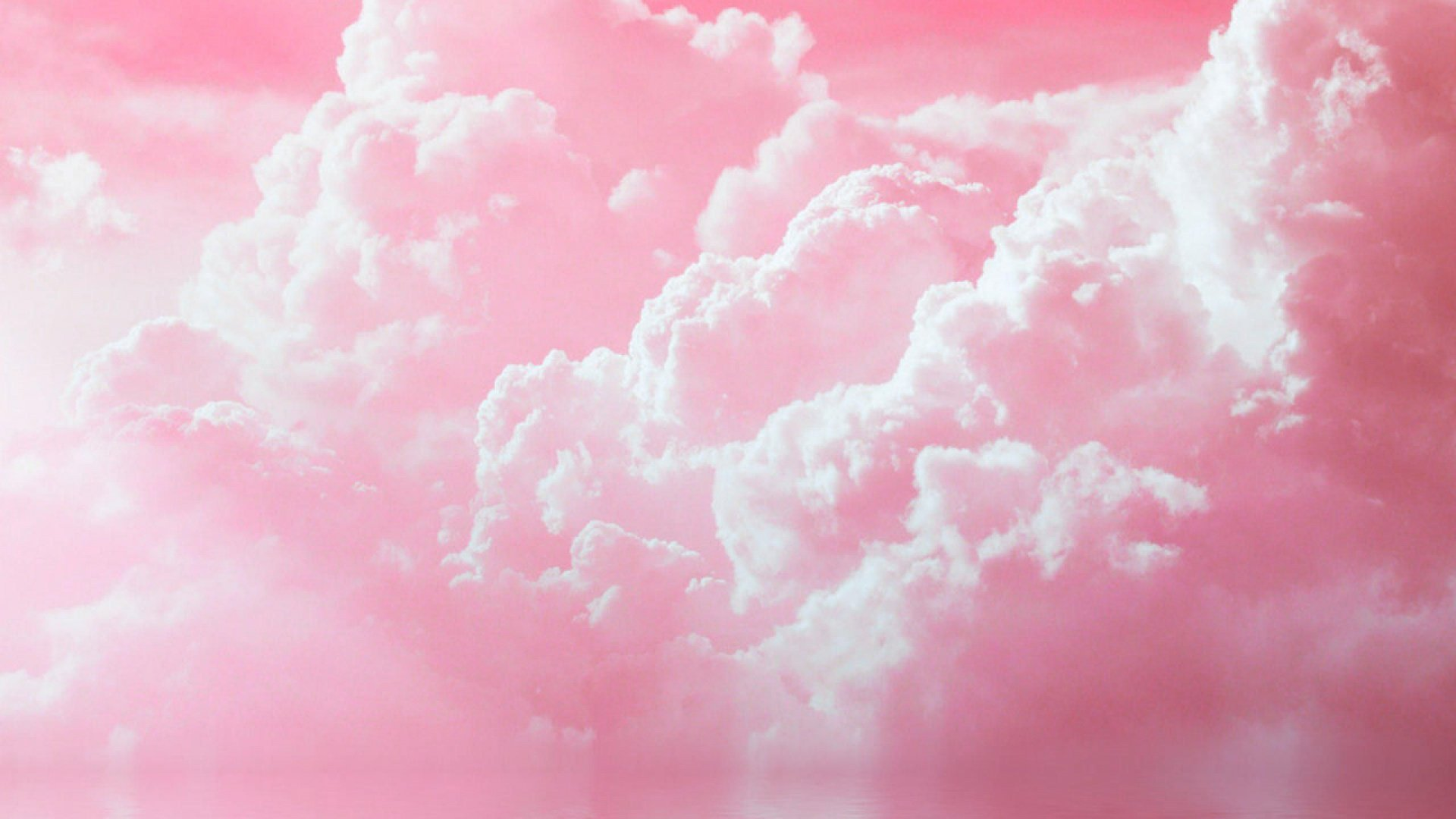 Pink Sky HD Desktop Wallpaper
