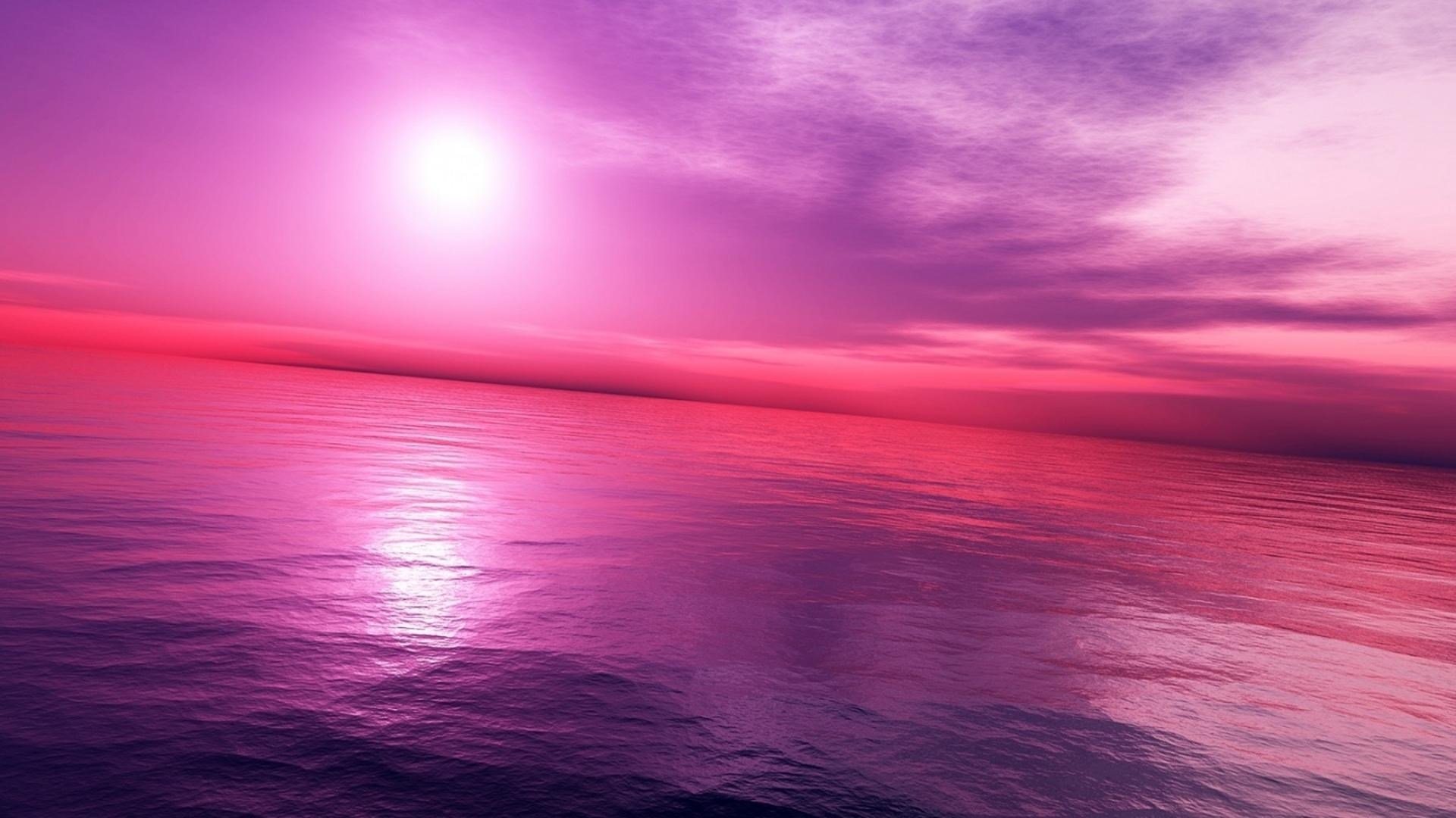 Pink Sky Desktop Wallpaper