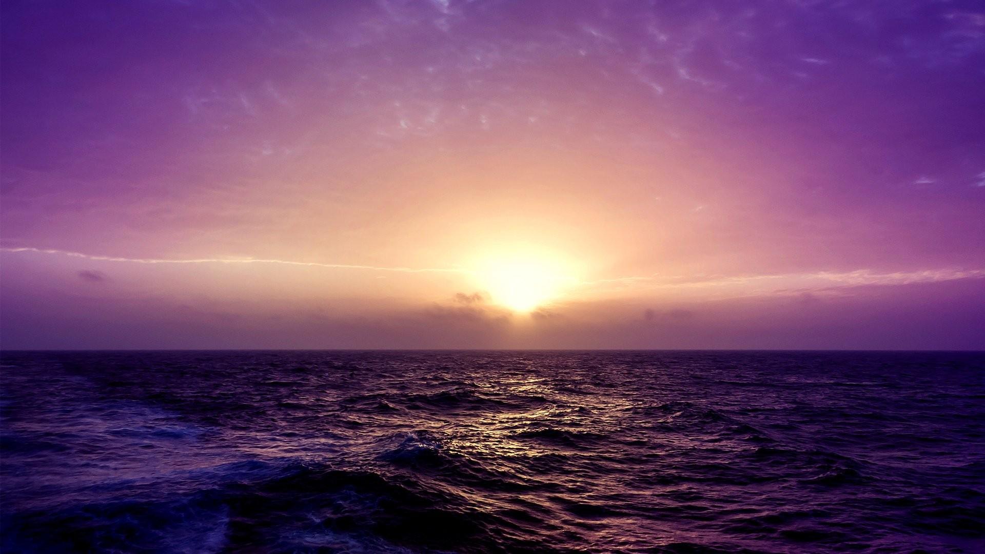 Purple Sunset screen wallpaper
