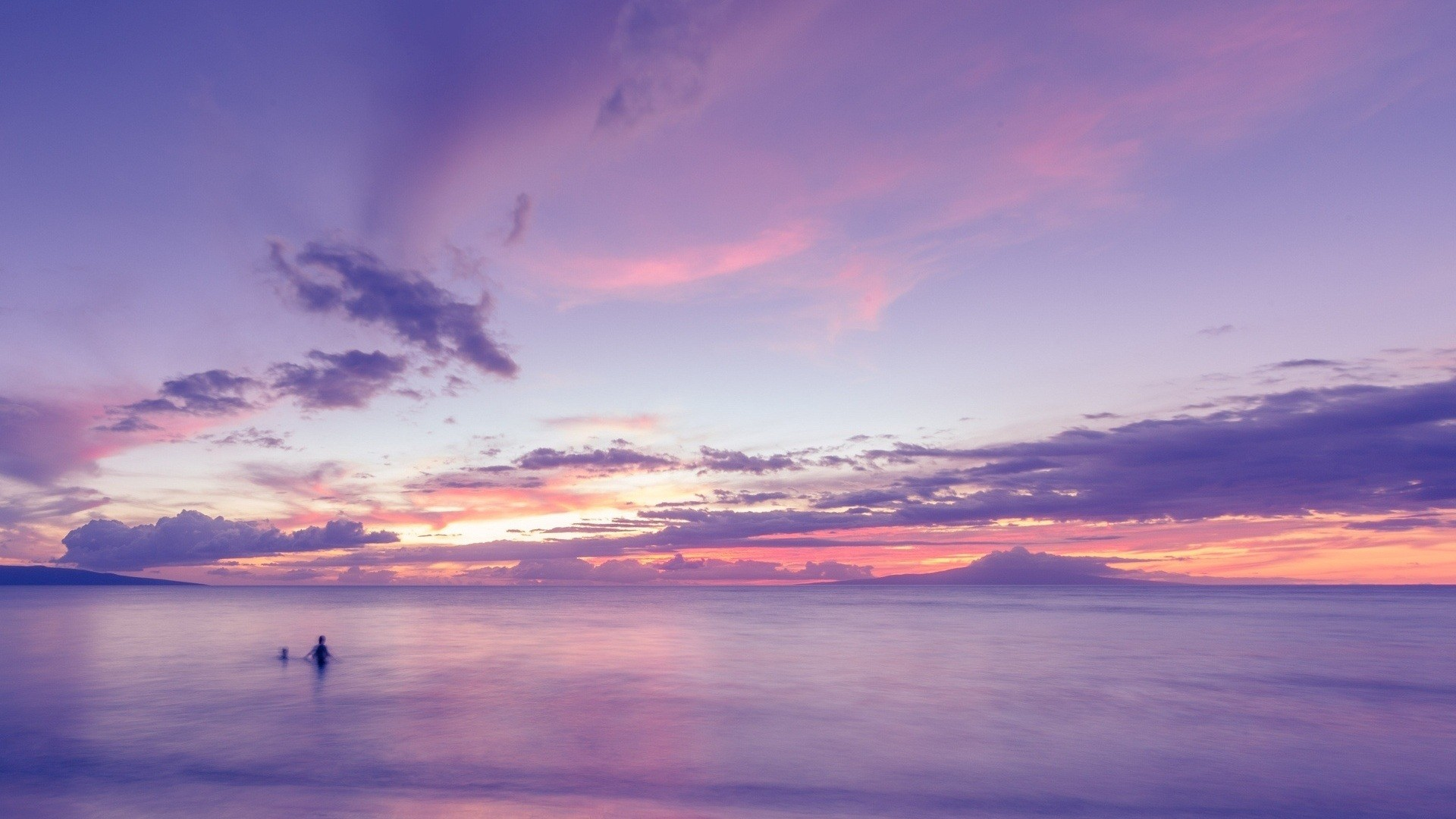 Purple Sunset Wallpaper Theme