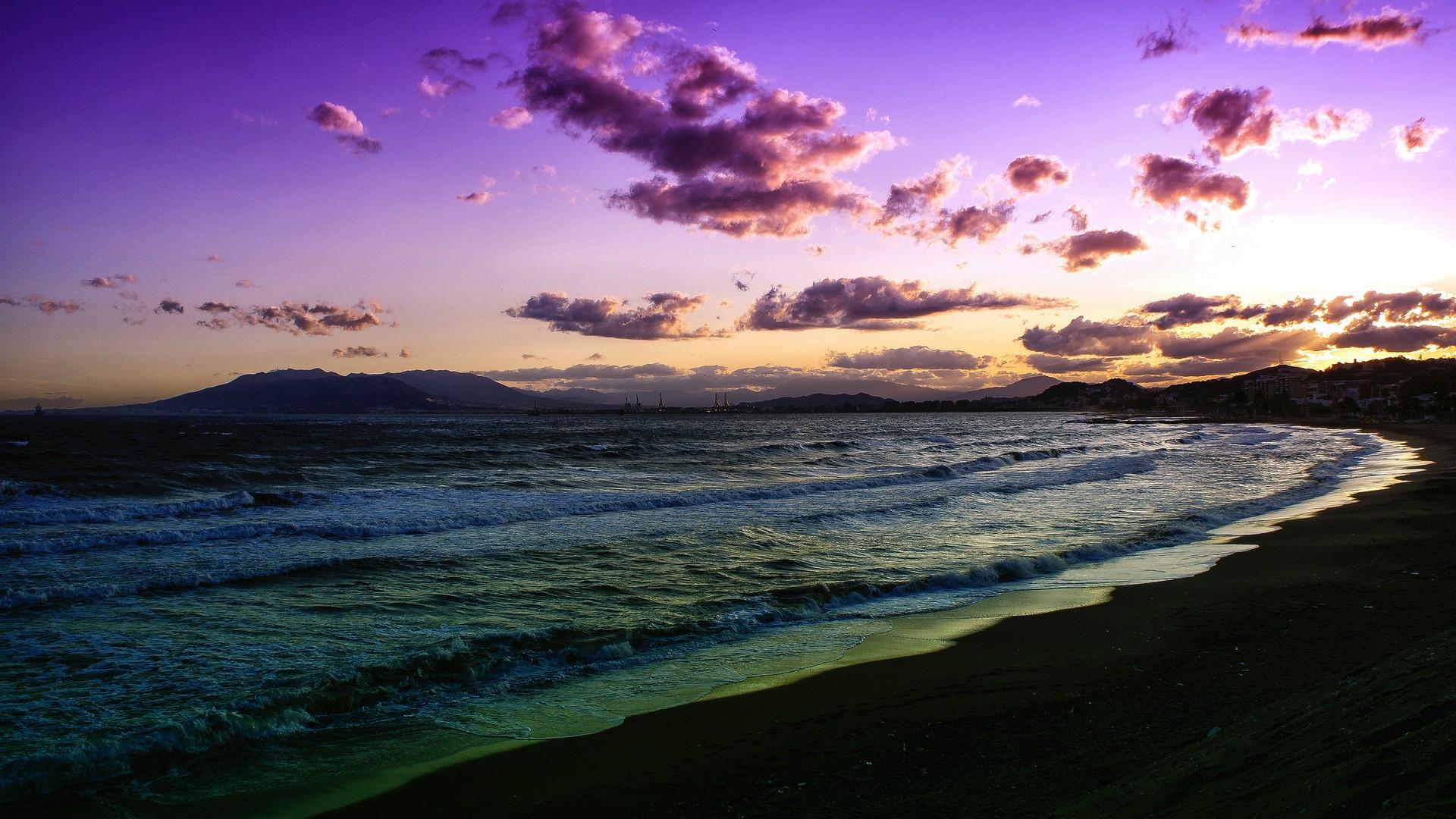 Purple Sunset Wallpaper Picture