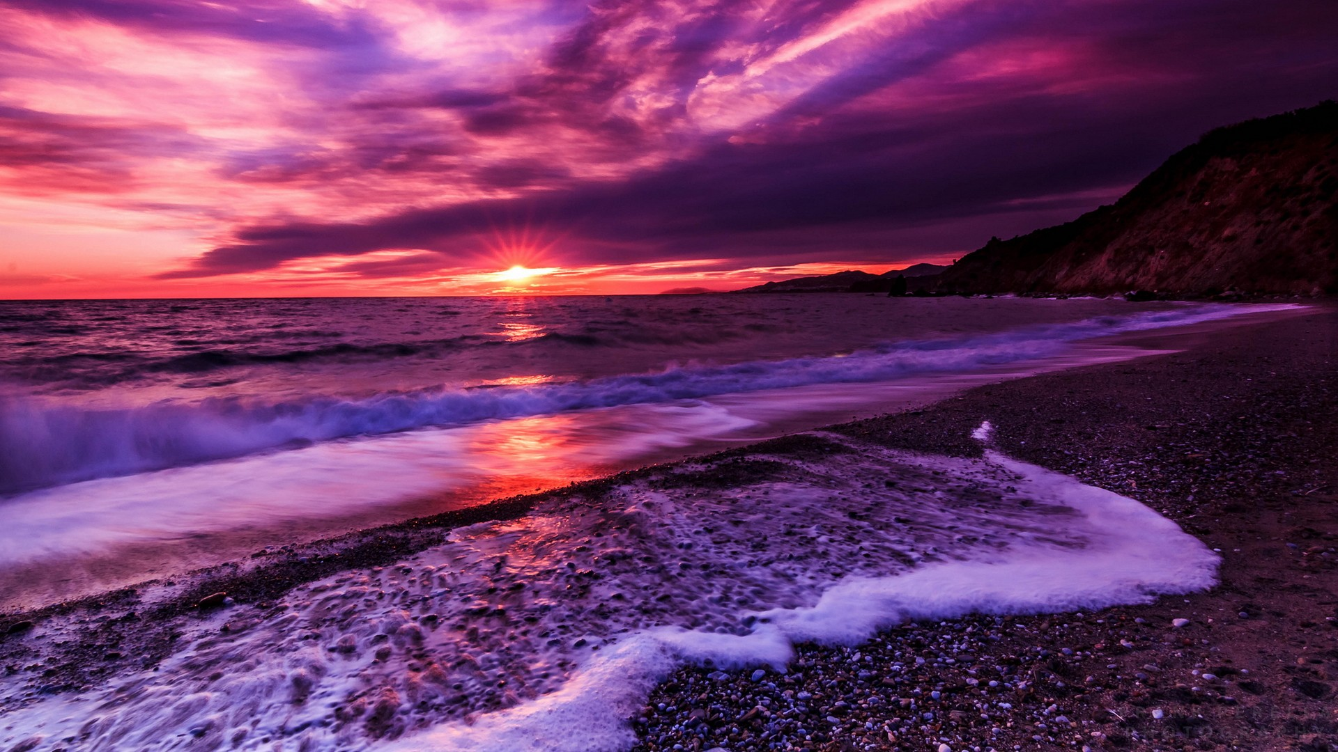 Purple Sunset hd wallpaper for laptop