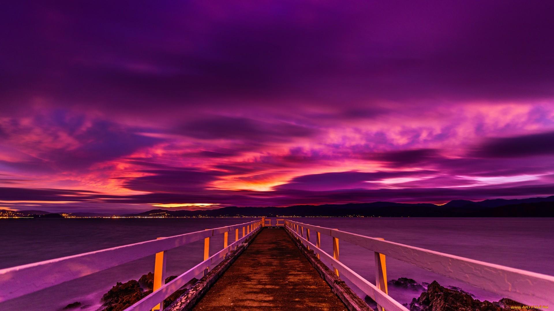 Purple Sunset PC Wallpaper