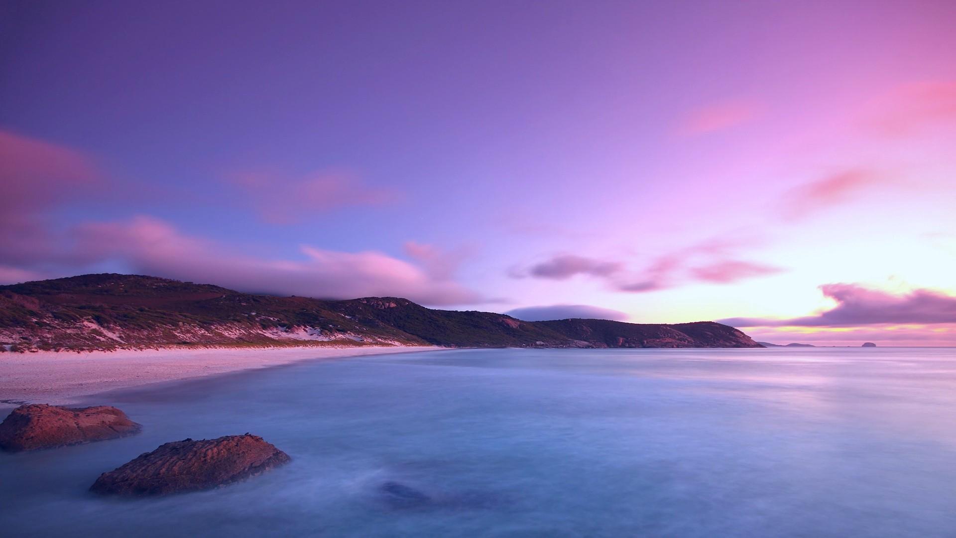 Purple Sunset hd wallpaper 1080