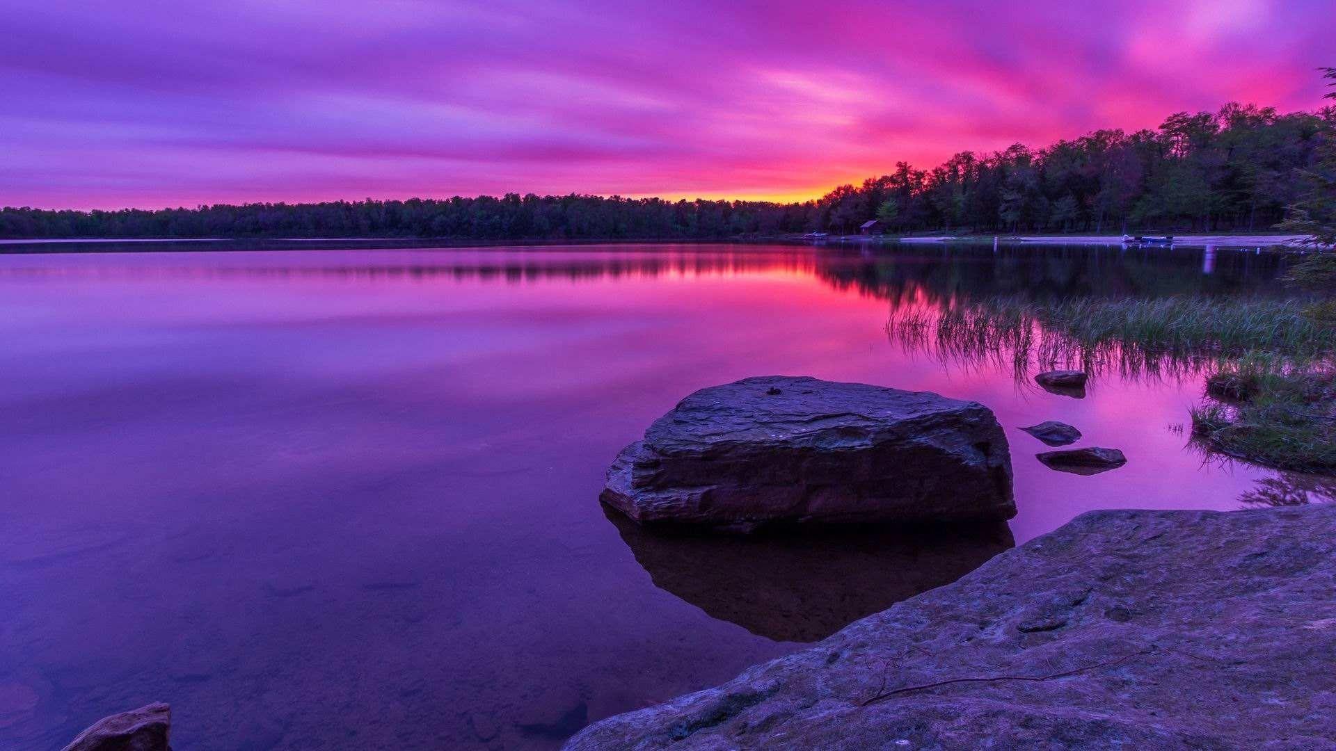 Purple Sunset download wallpaper image