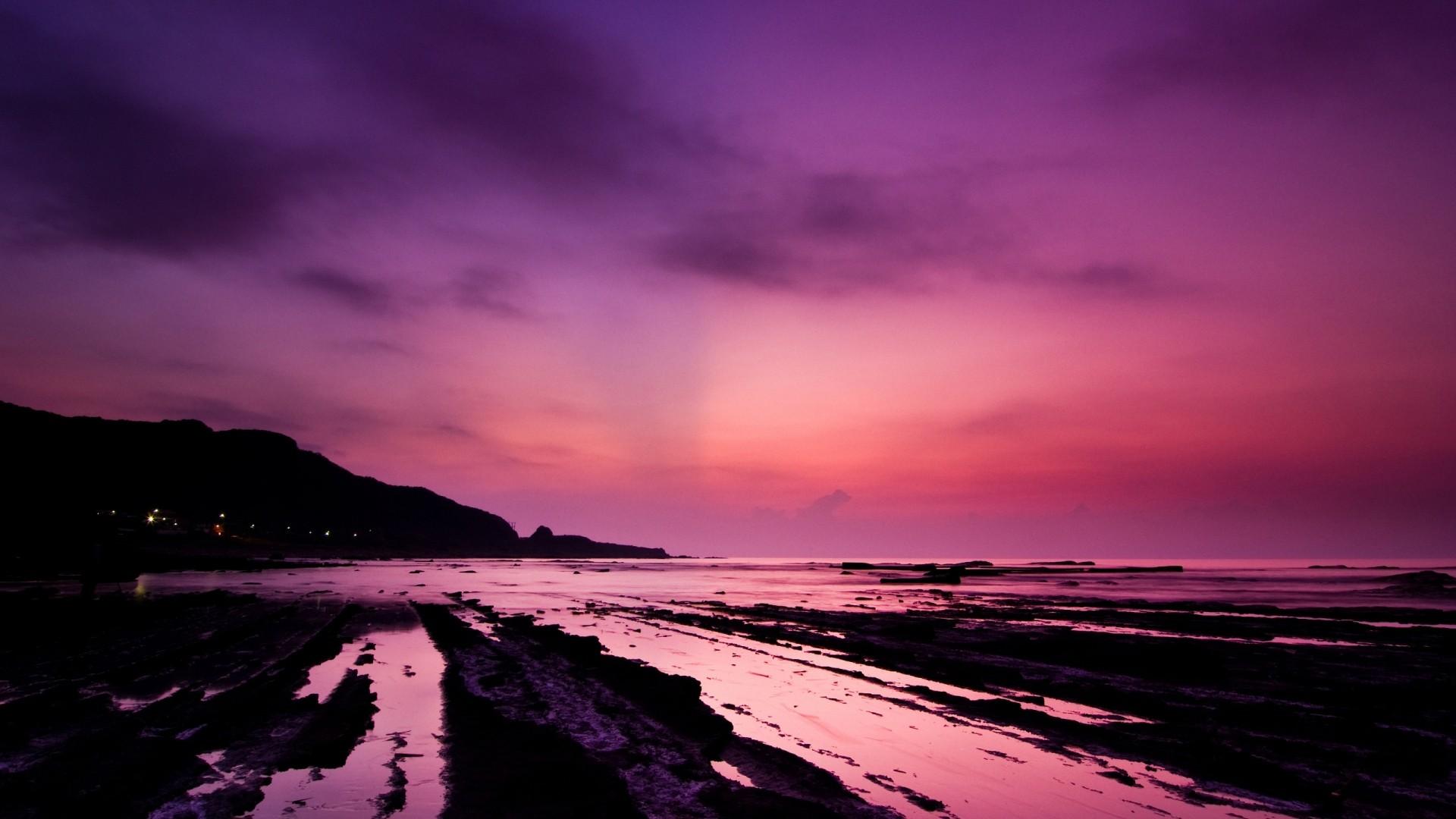 Purple Sunset wallpaper photo hd