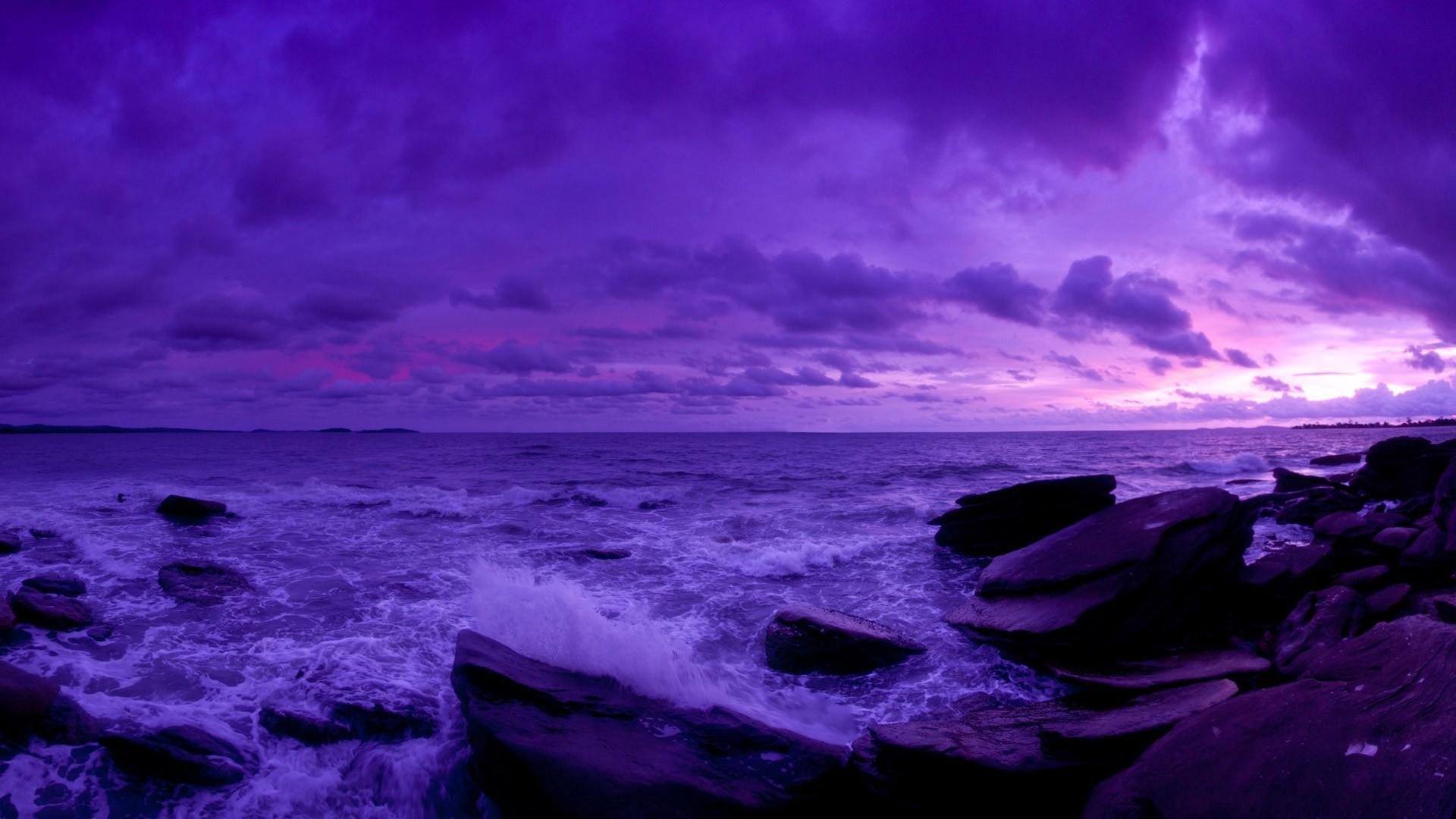 Purple Sunset full hd wallpaper