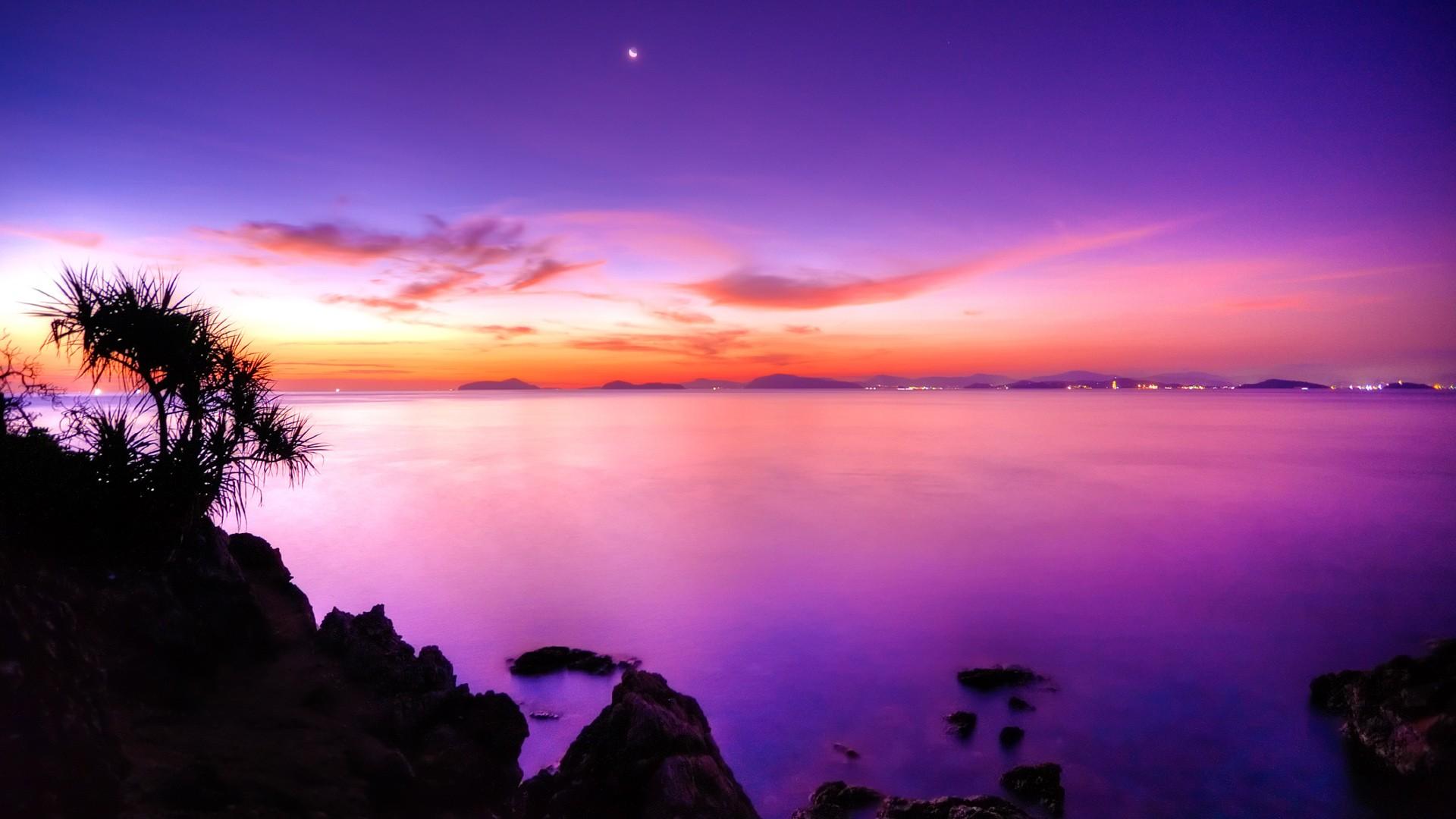 Purple Sunset desktop wallpaper download