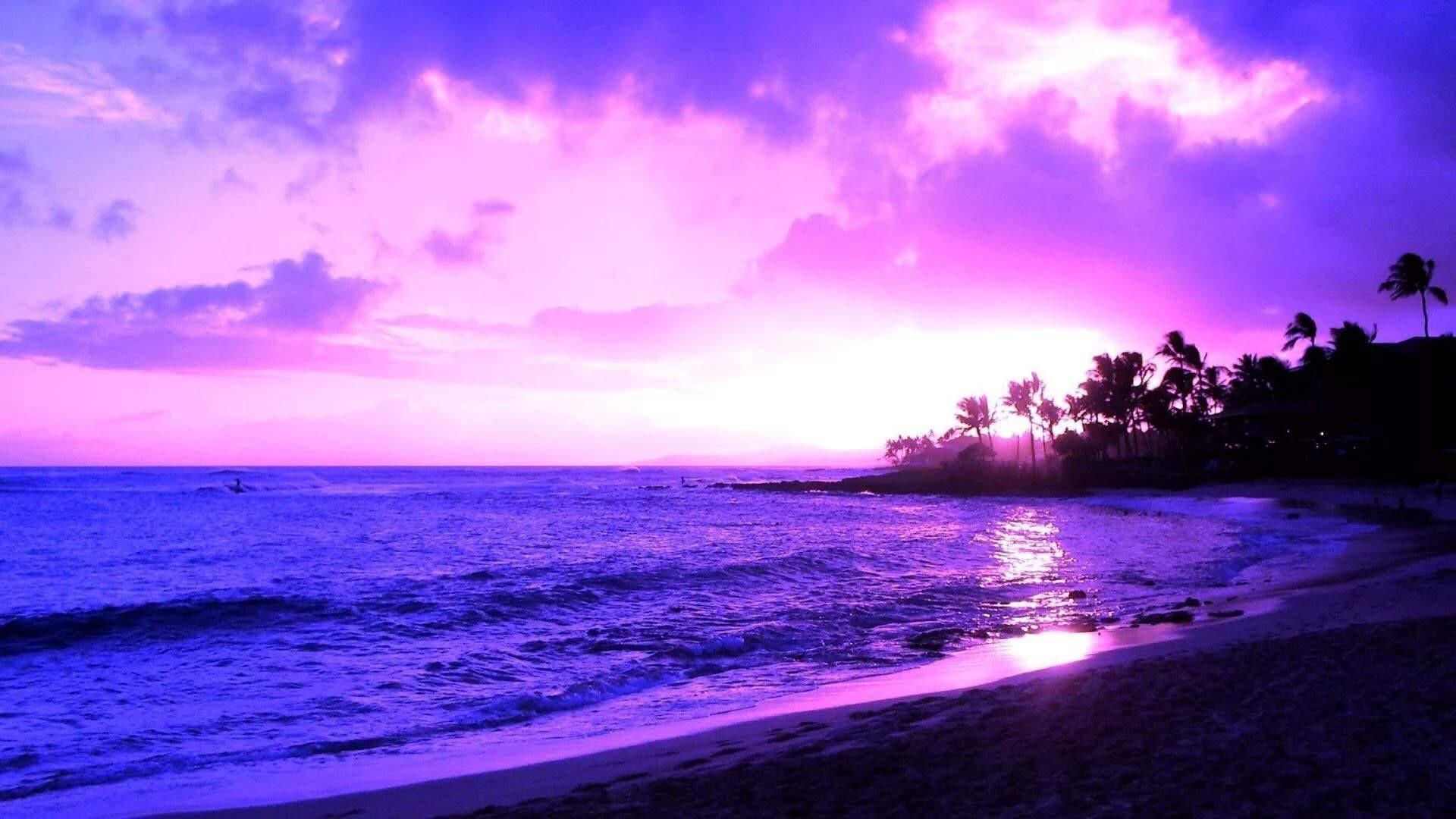 Purple Sunset wallpaper image hd