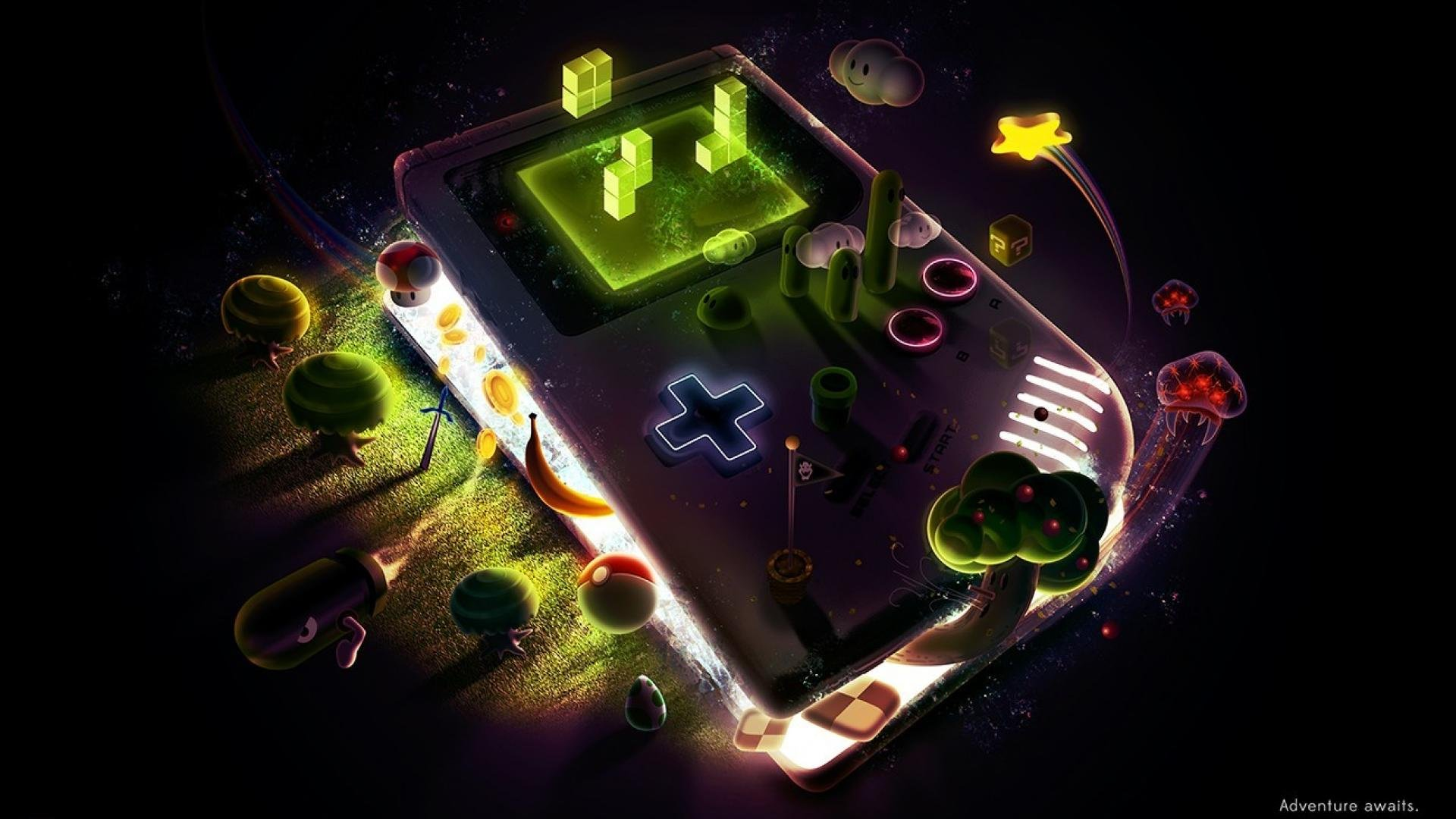 Retro Gaming desktop wallpaper download