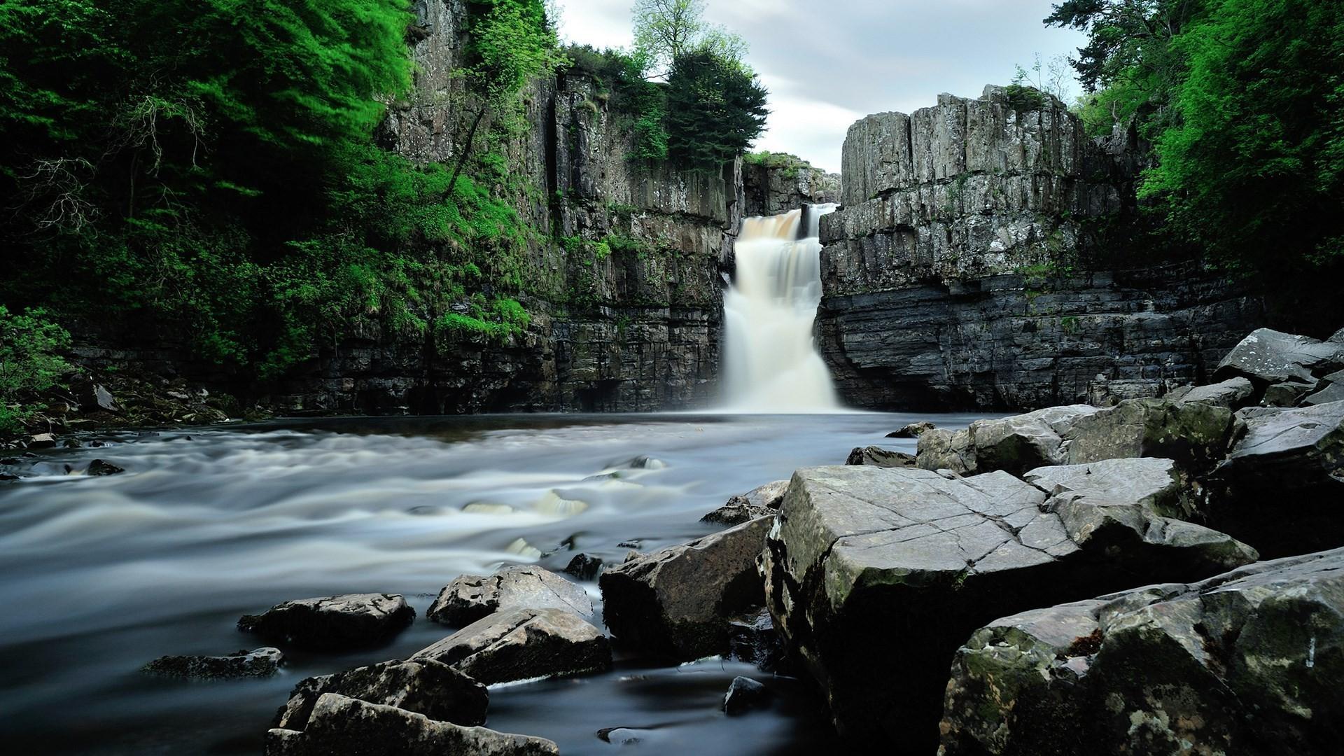 Waterfall background computer