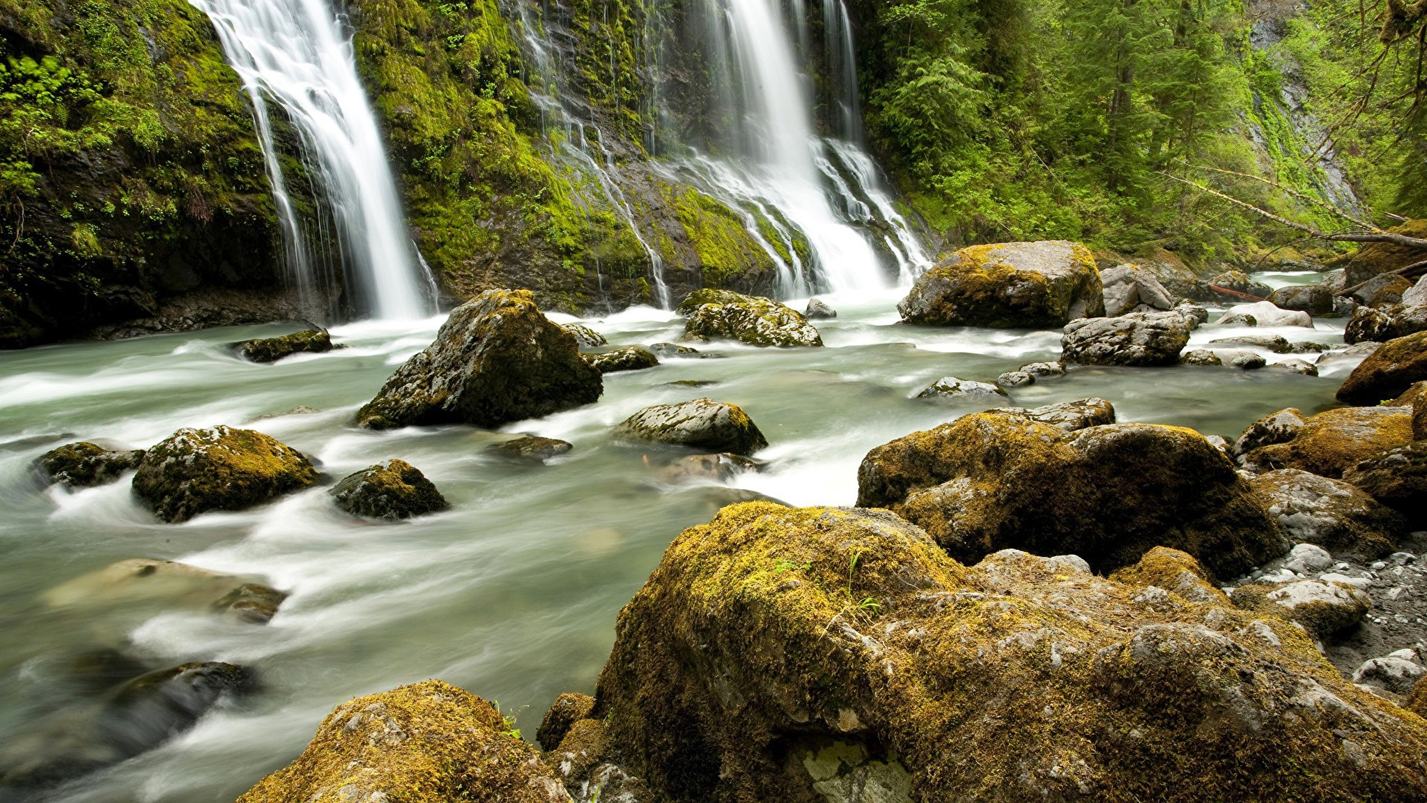 Waterfall good background