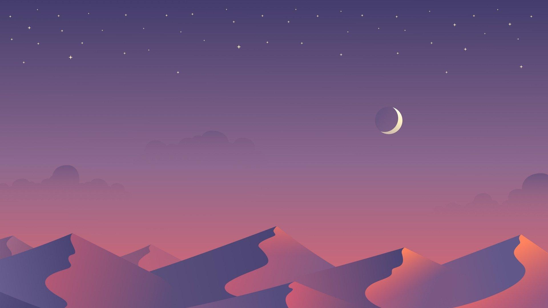 Aesthetic Moon Wallpaper 1920x1080