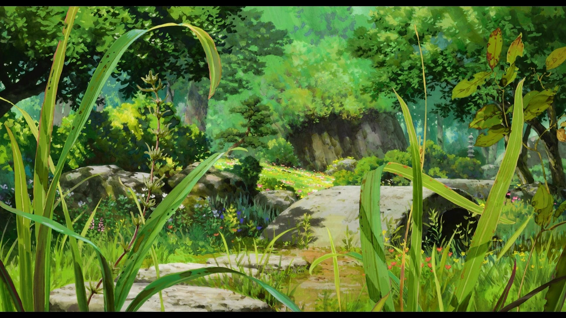 Anime Forest download free wallpaper for pc in hd