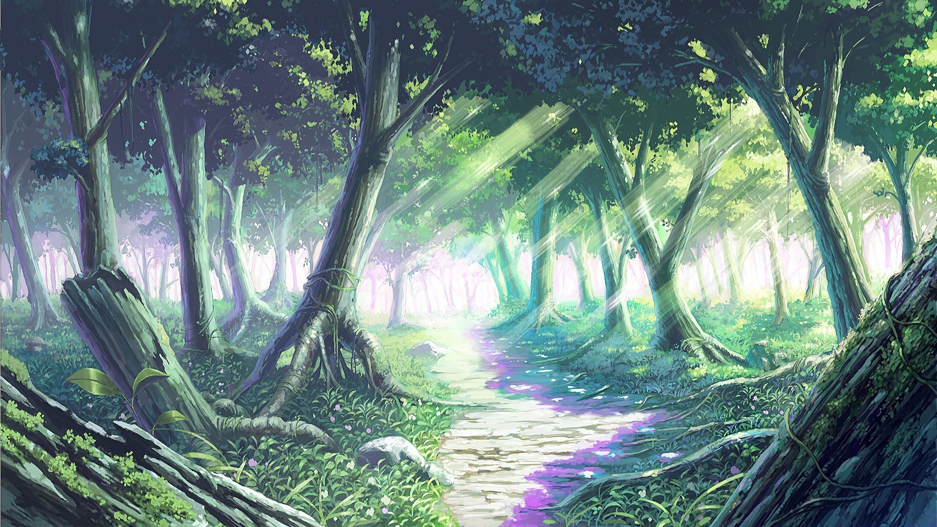 Anime Forest a Wallpaper