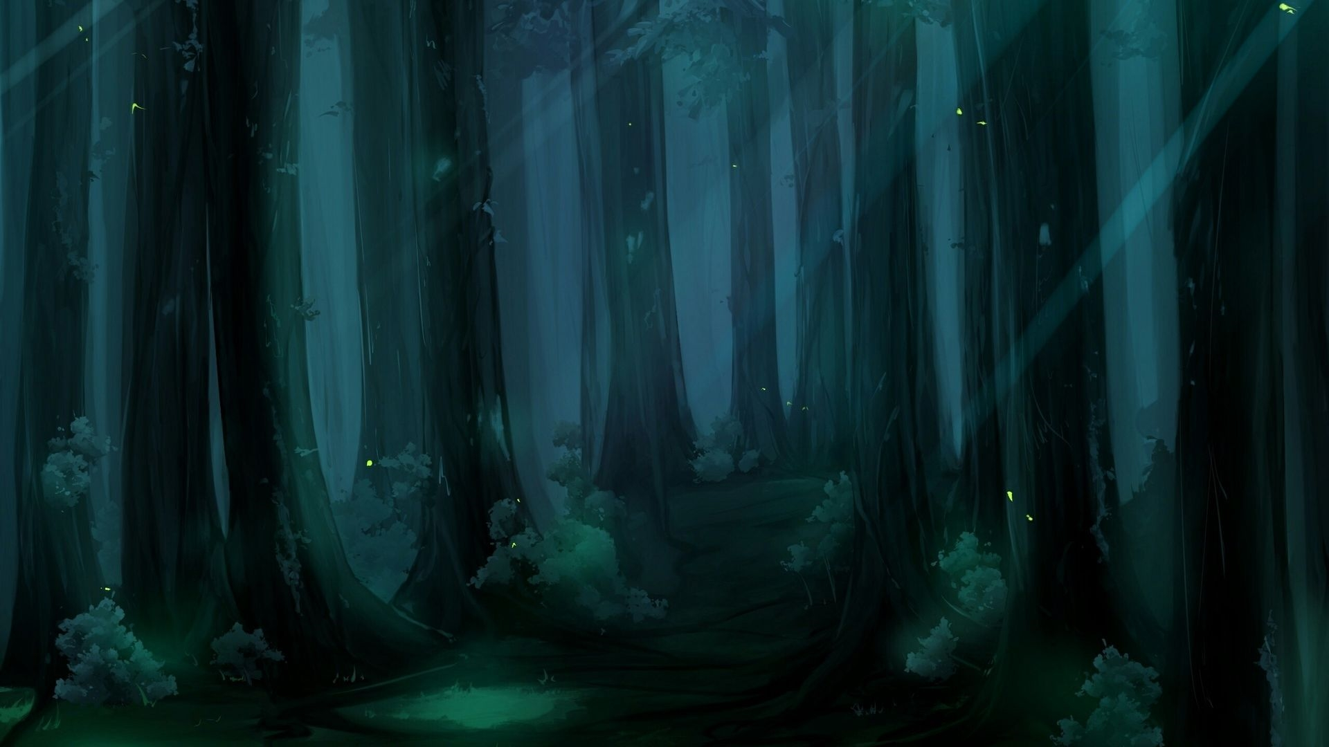 Anime Forest Cool HD Wallpaper