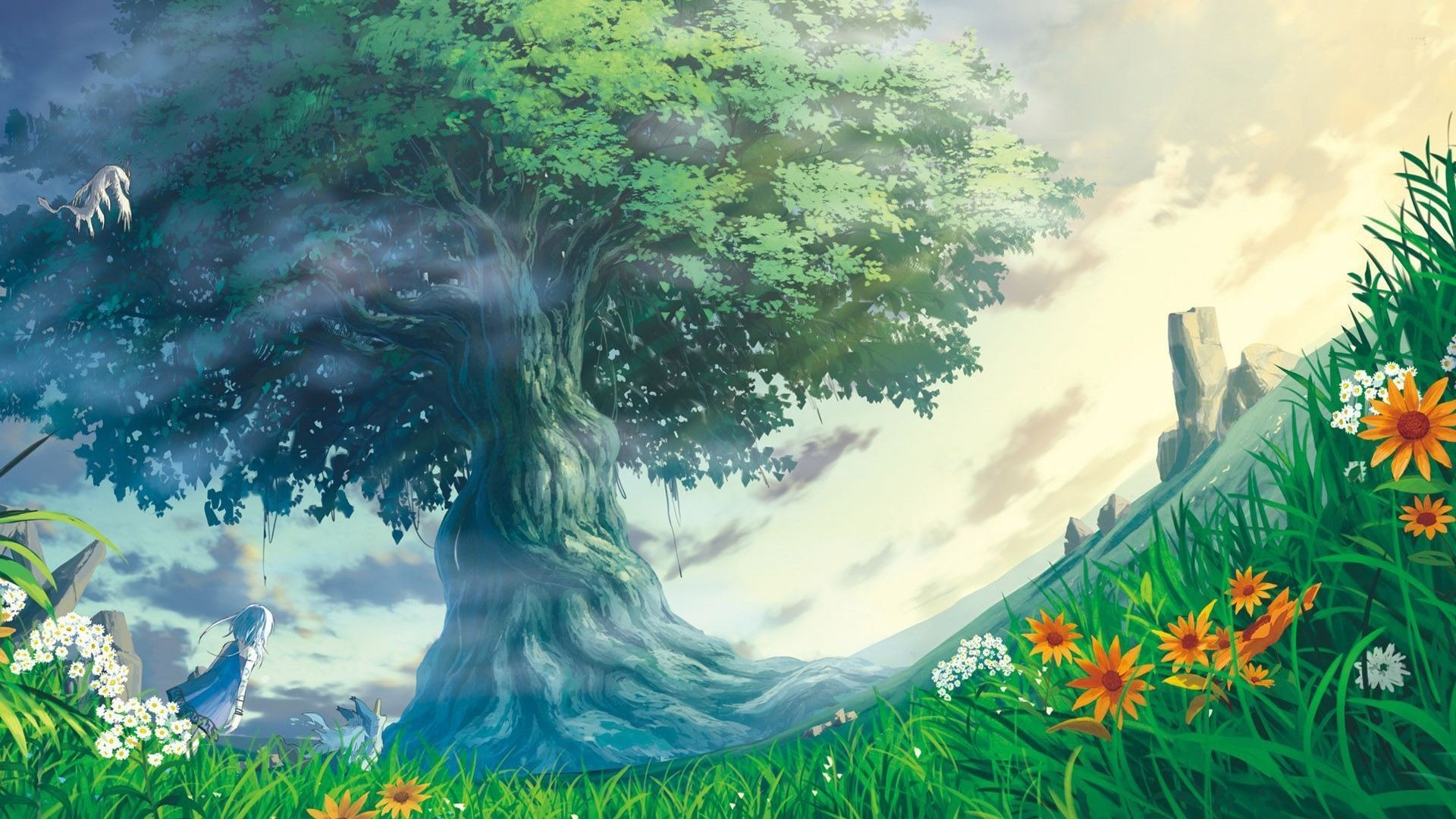 Anime Forest HD Wallpaper Download