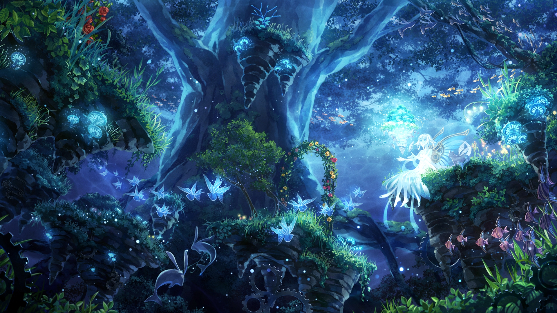 Anime Forest wallpaper image