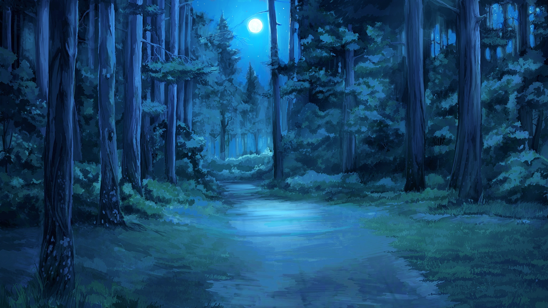 Anime Forest hd wallpaper for pc