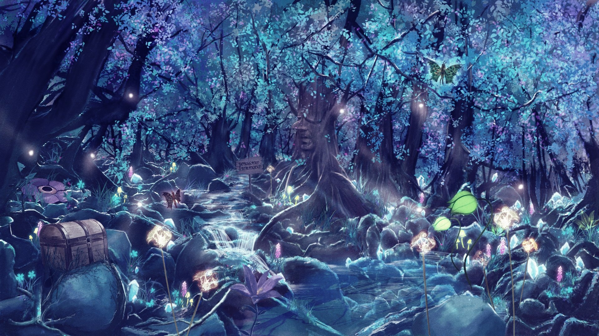 Anime Forest New Wallpaper